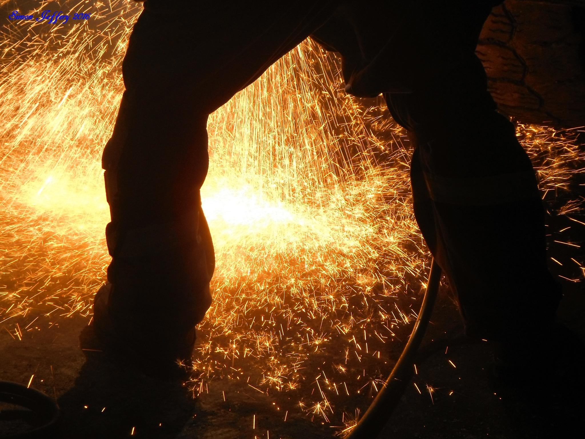 Cutting steel by Simon Jeffery