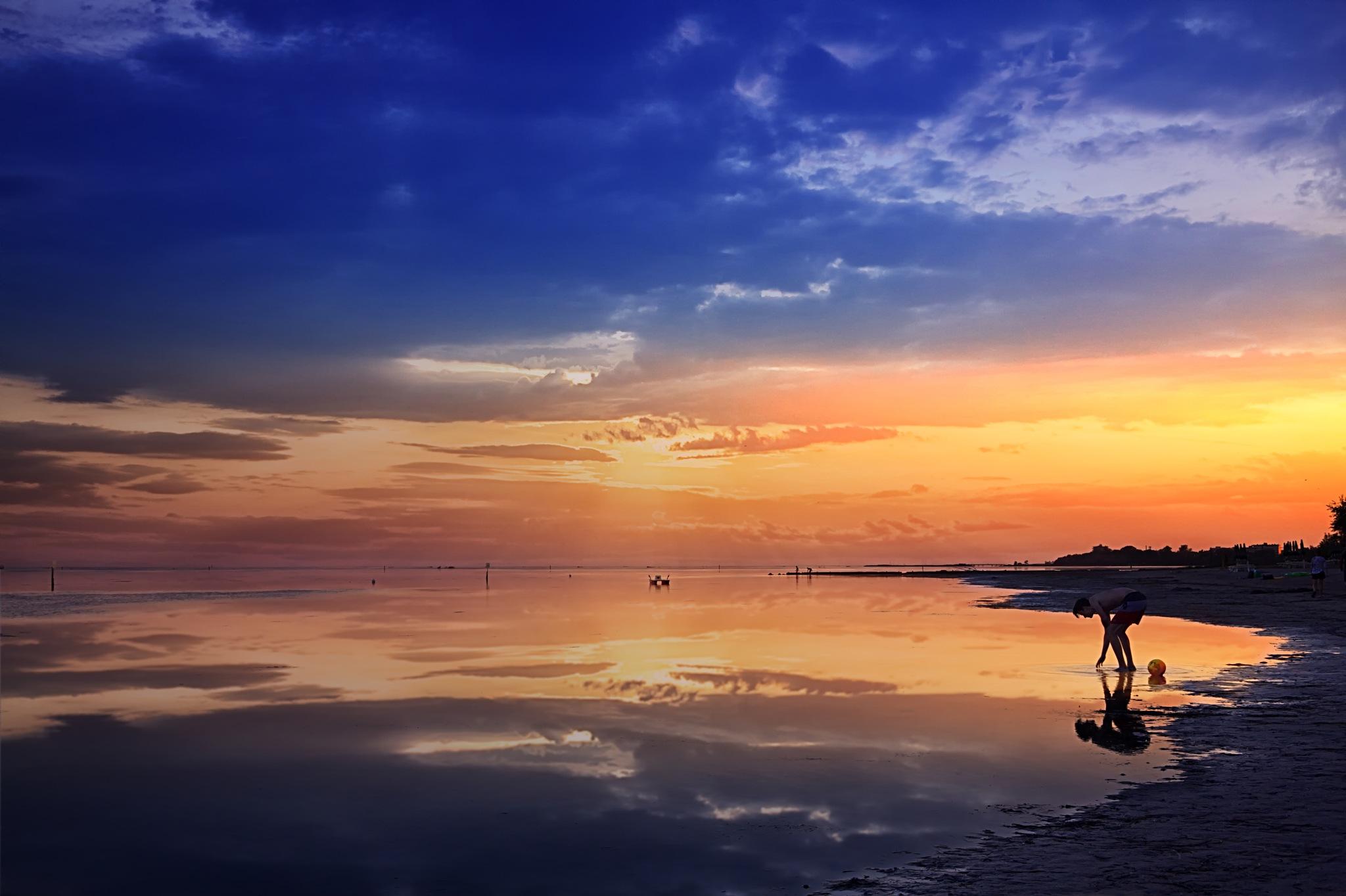 Sundown at the Beach by Michael Stapfer
