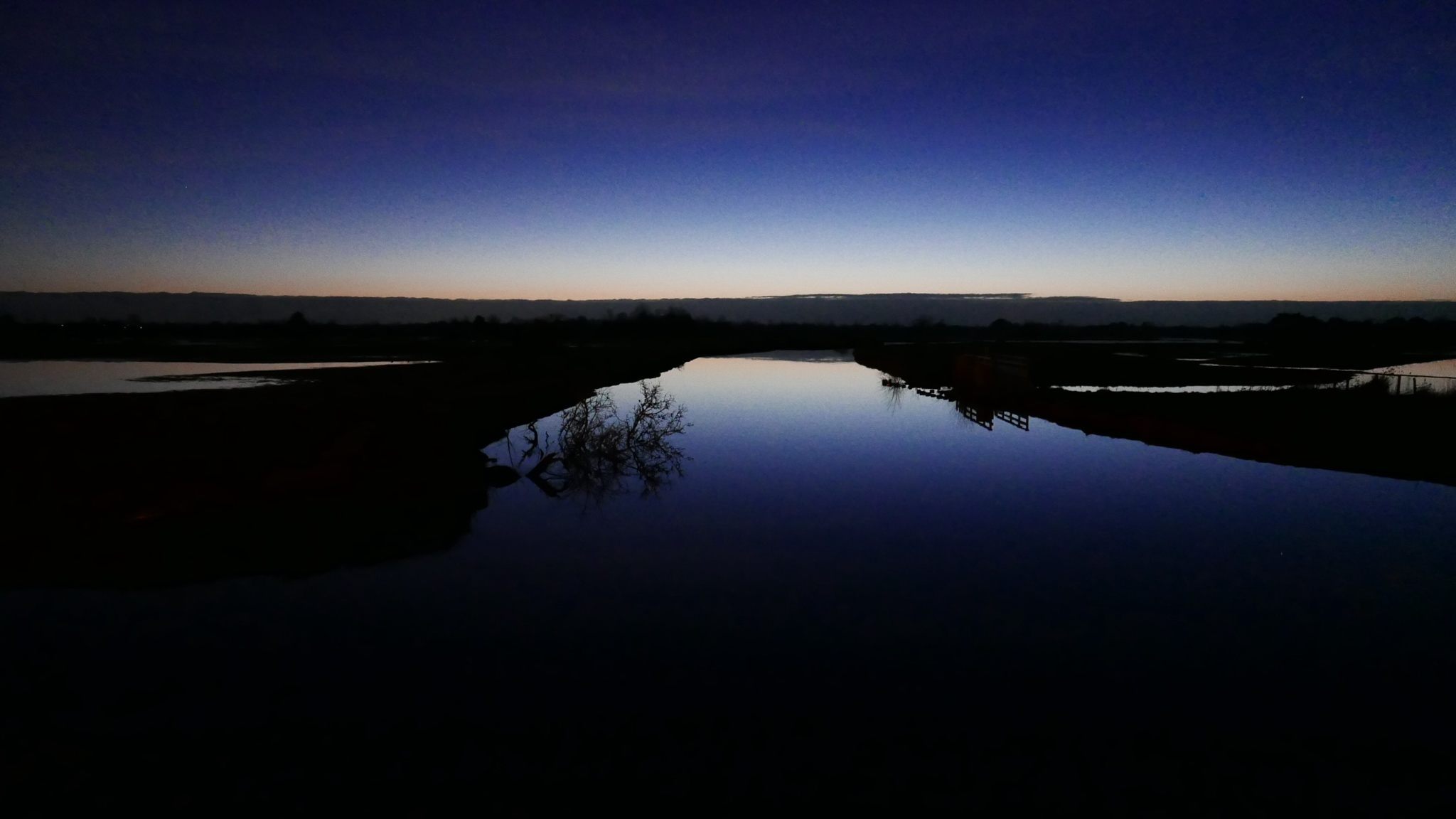 Night on the marshes by lallemand