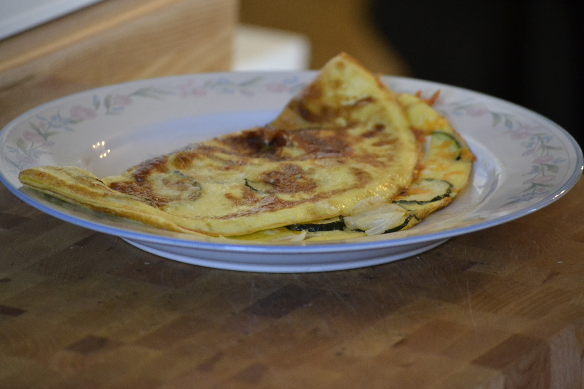 Zucchini and swiss cheese omlette by Trevor Smith