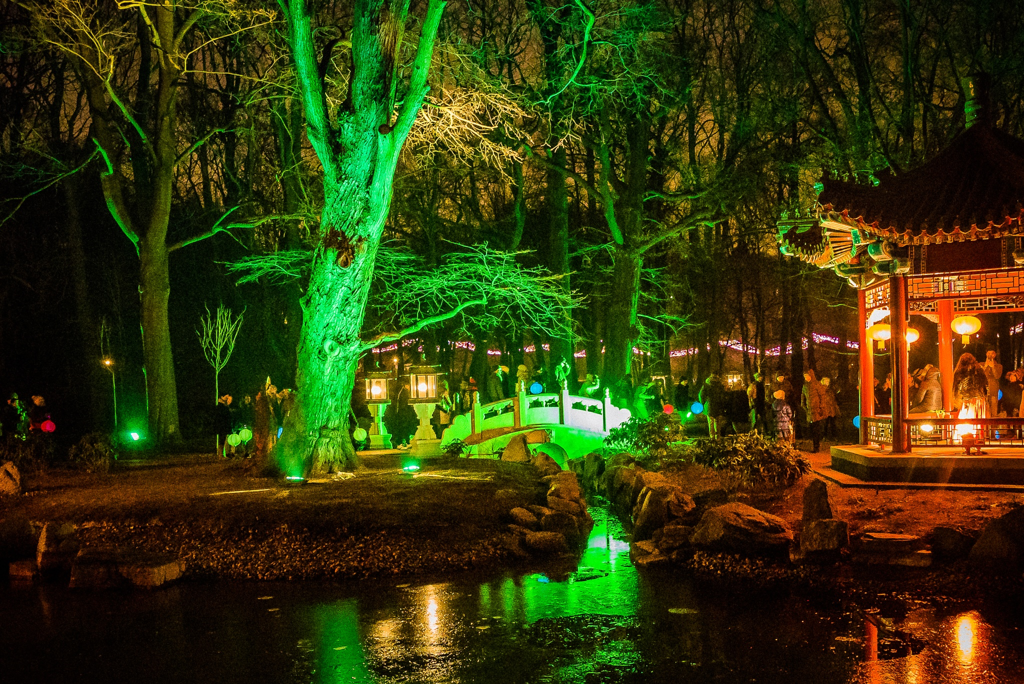 Gardens of light - Warsaw, Łazienki królewskie 2016 by Samar_WD