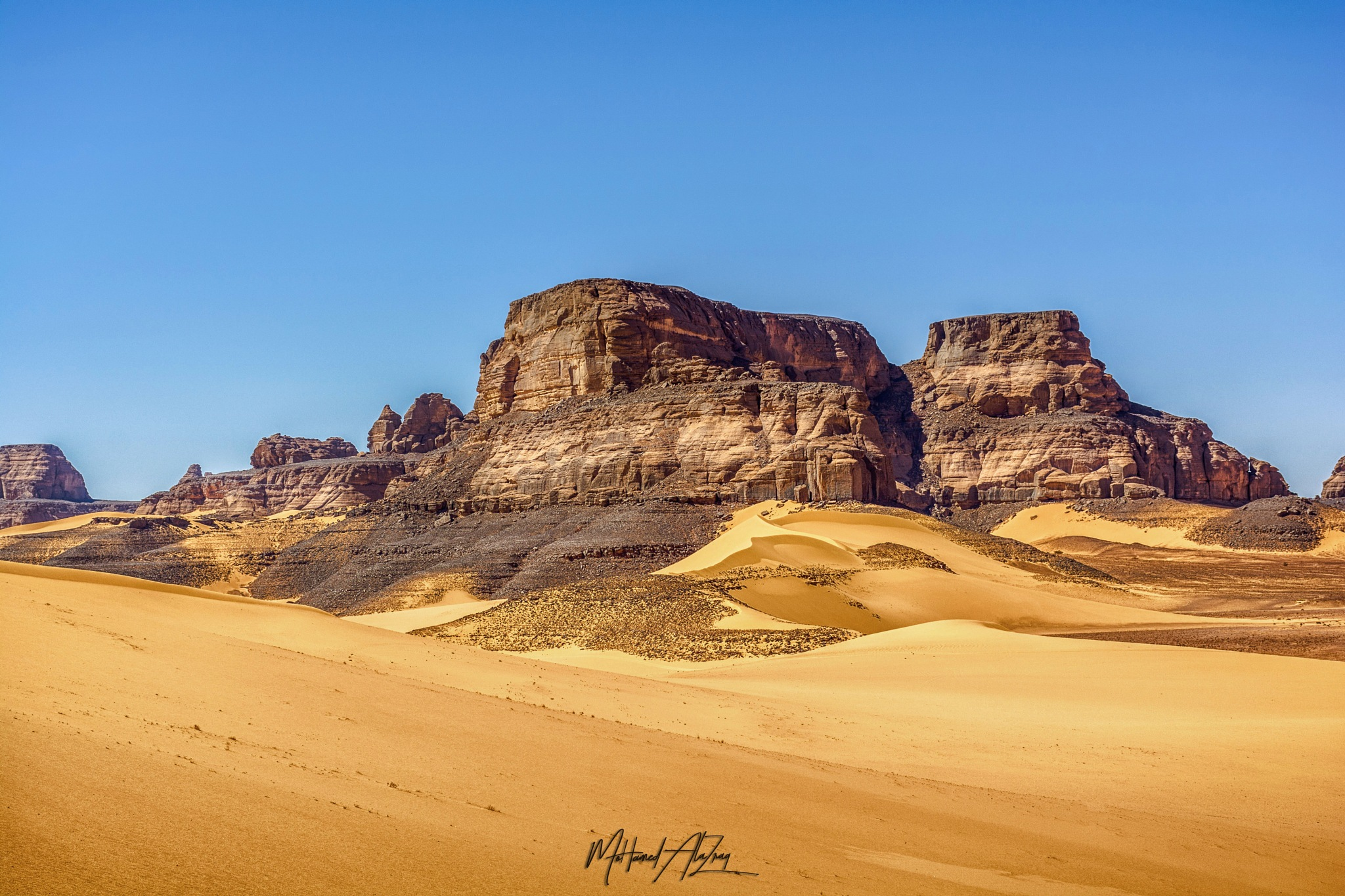 Acacus Mountains (mad max) by Mohamed alazrak