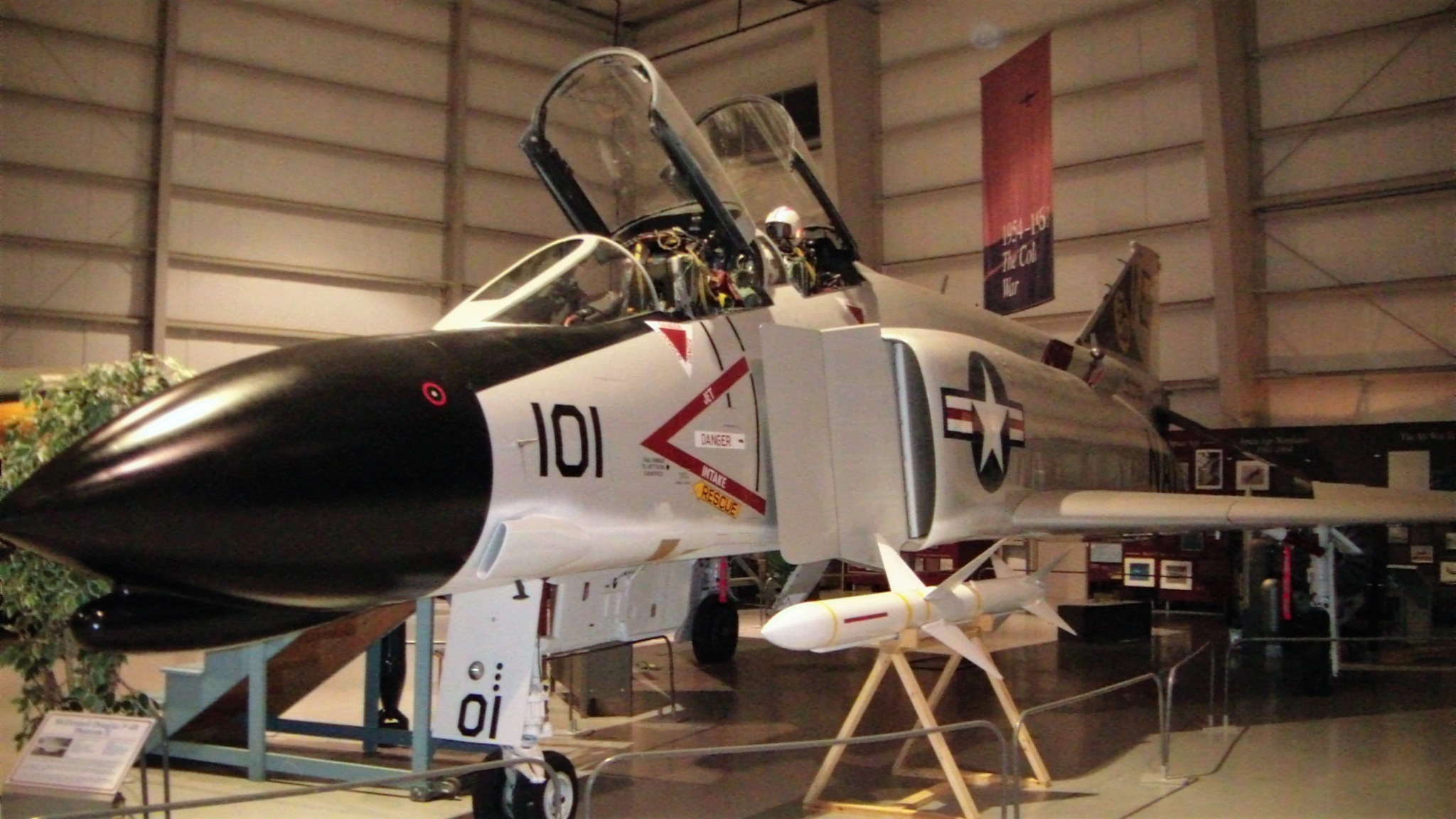 Old Air Museum New York State F-4 Phantom II, Now moved to The USS Midway Museum by Miguelvillega