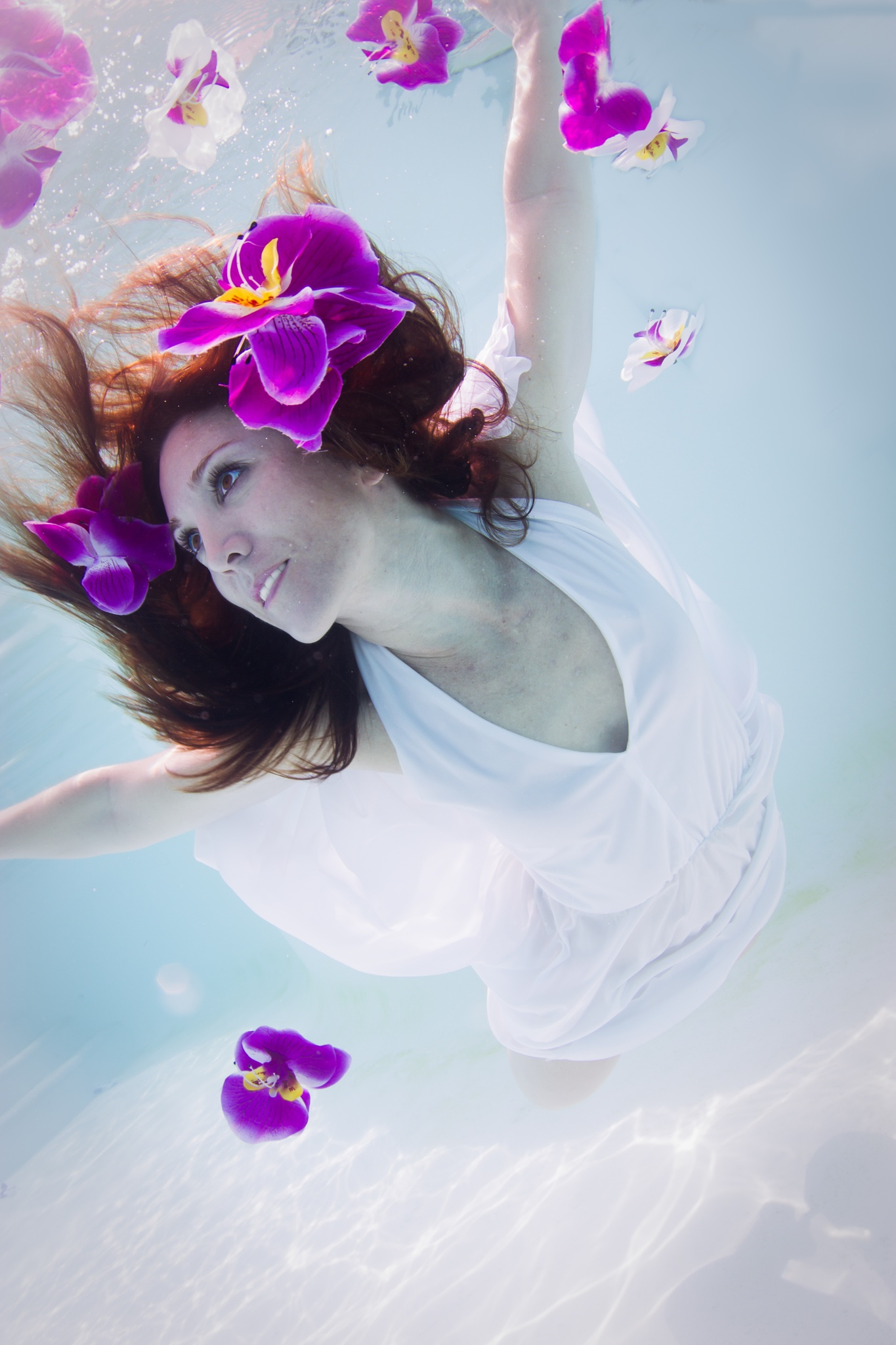 Orchid girl by Petra Van Borm