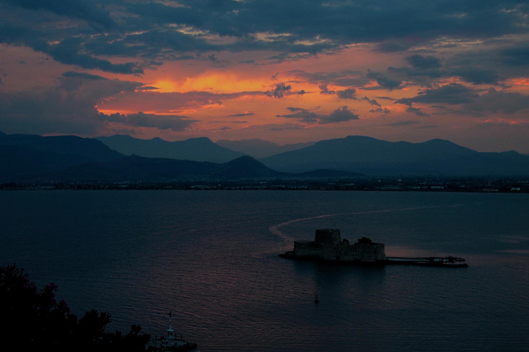 Castle Of Bourtzi, Greece by Linus De Witte