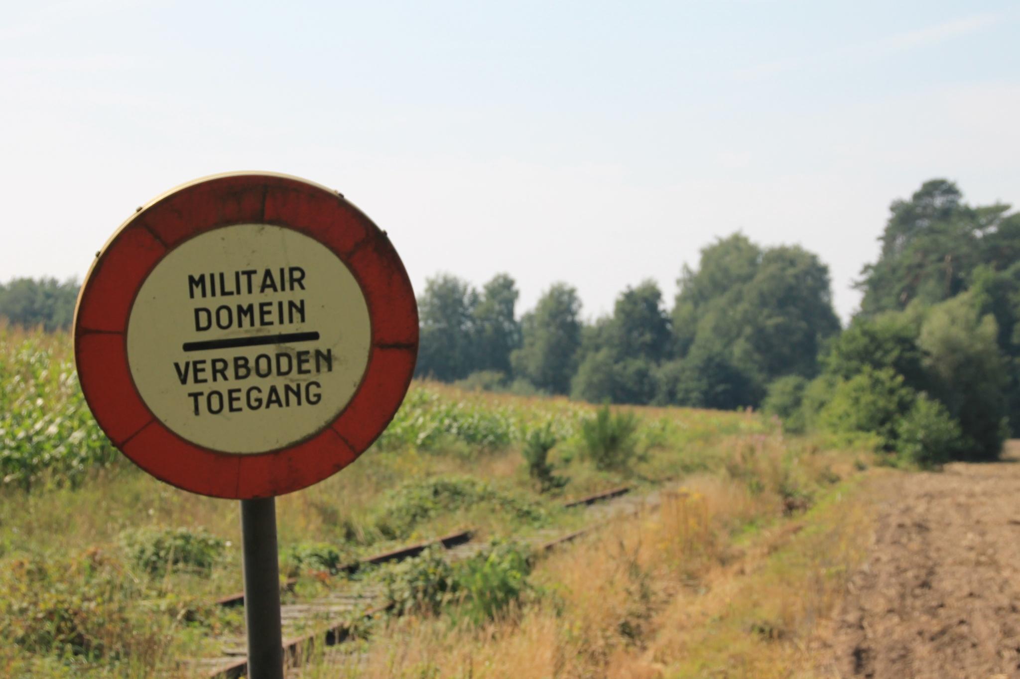Military Area ----- Trespassing Forbidden by Linus De Witte