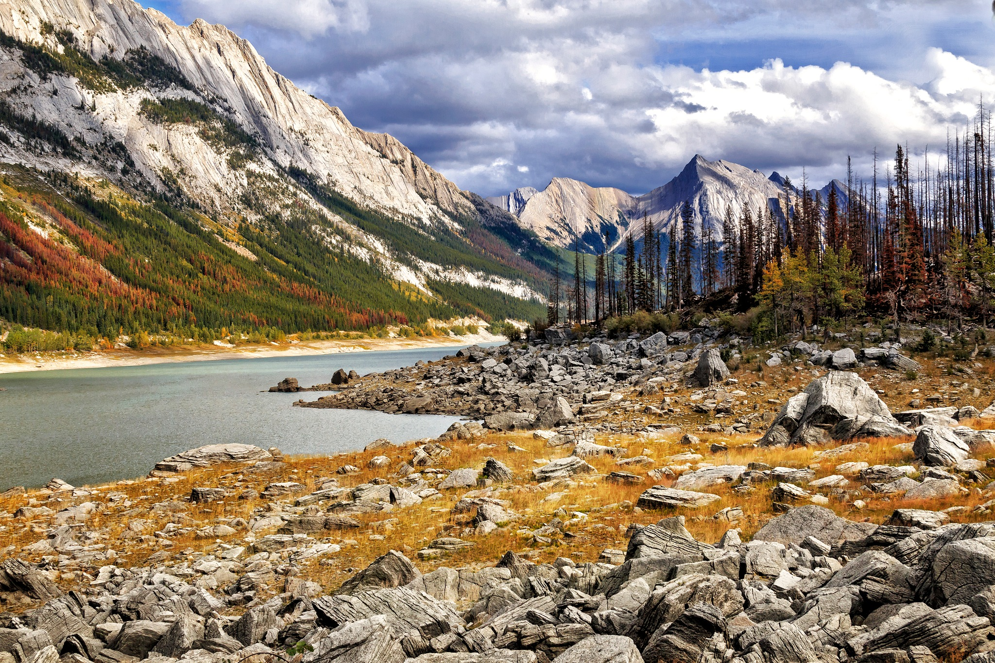 Medicine Lake & Elizabeth range, Jasper NP, Alberta by SterlingLanier