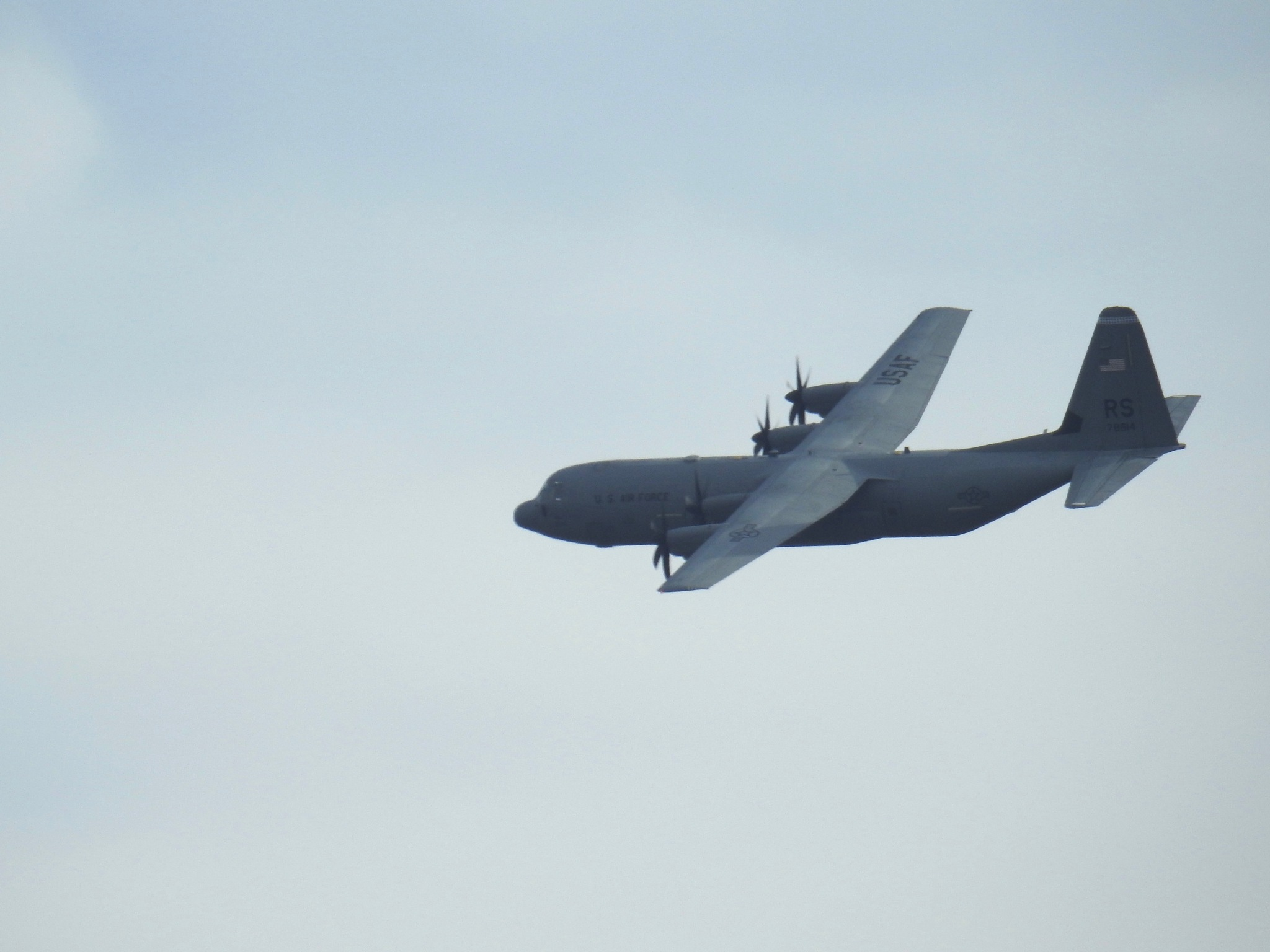 Low flying military aircraft flew over my house, this morning.  by Marisa