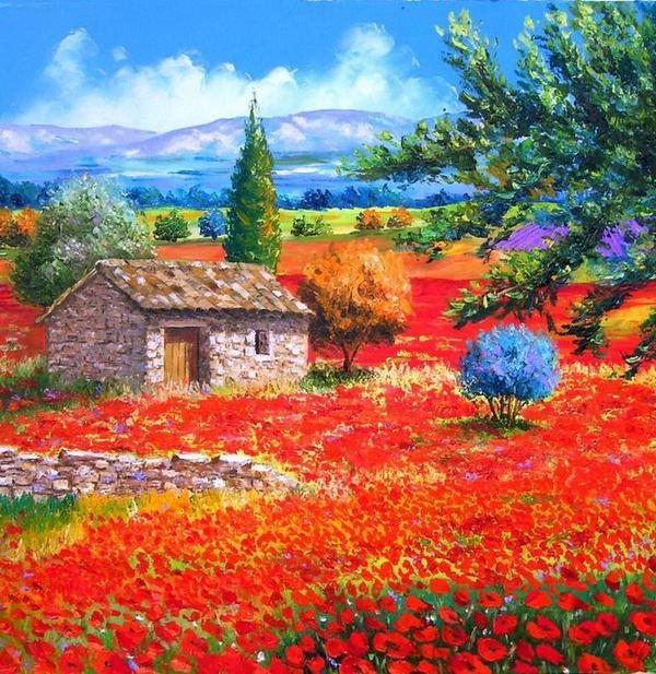 Poppies   Jean-marc Janiaczyk by Marisa