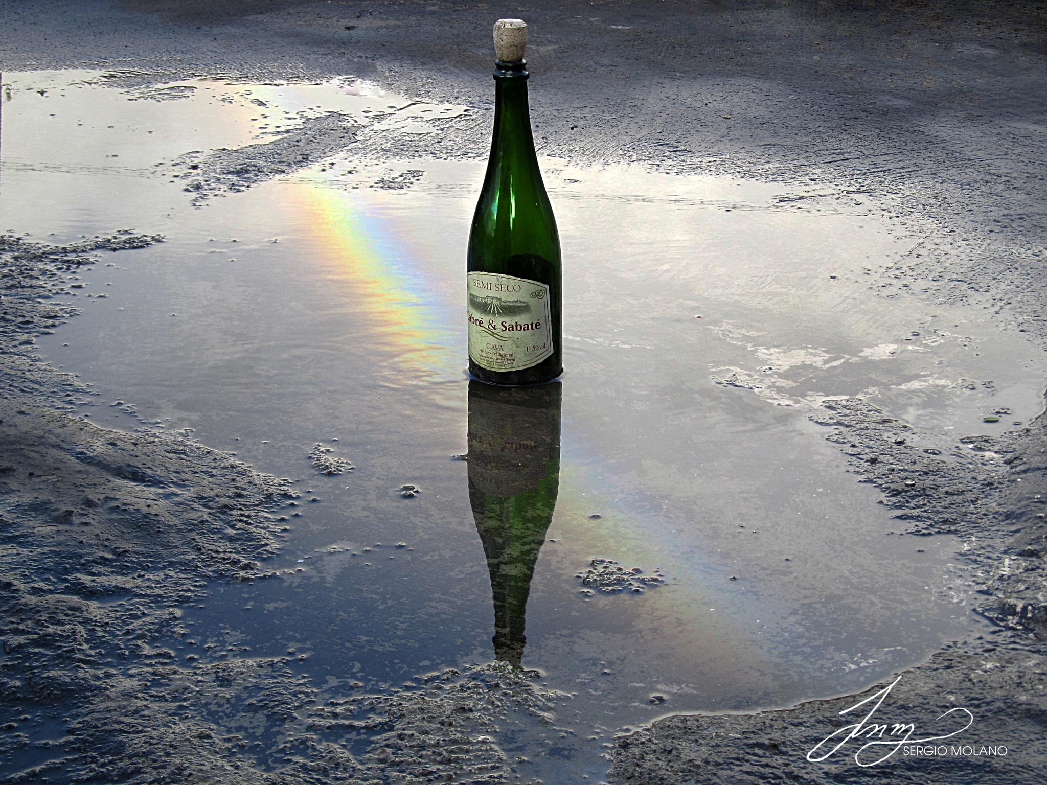 Rainbow reflection - Arcoiris reflejado. by SERGIO