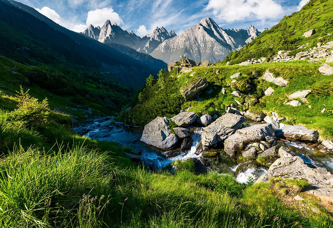 wild stream among the rocks by Mike Pellinni