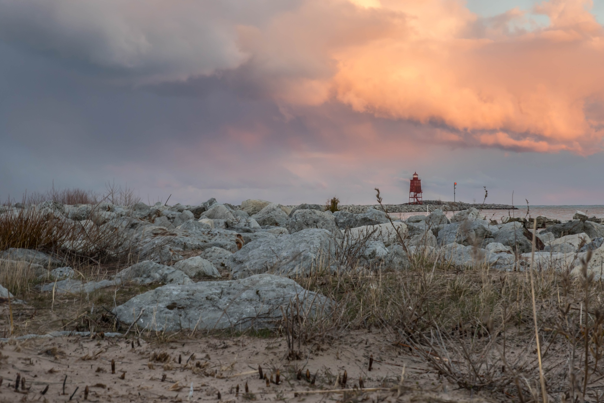 Early Spring on Lake Michigan  by OutHouseStudio