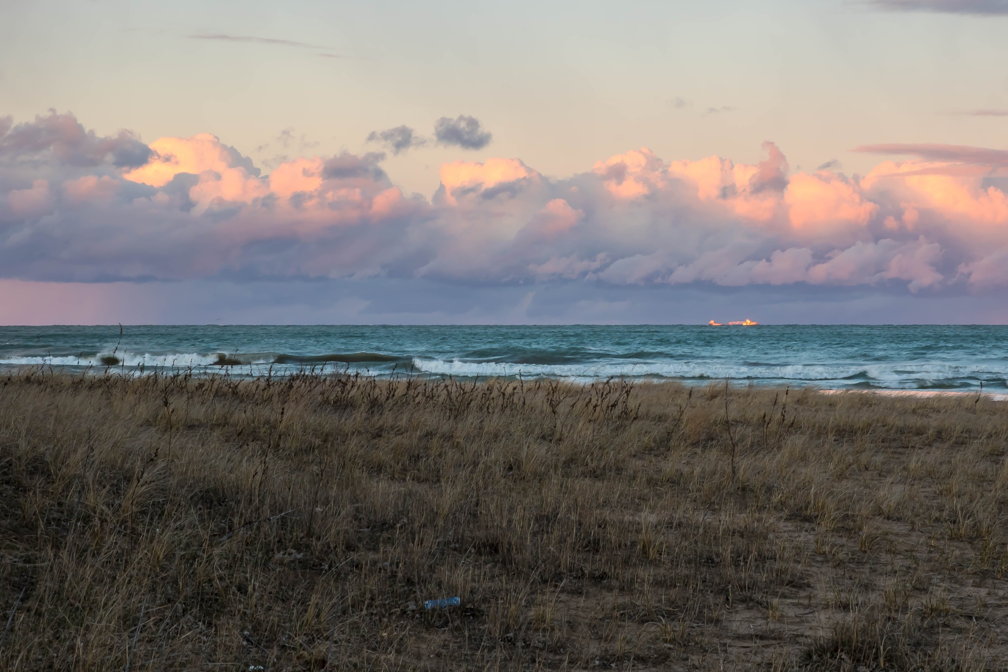 Freighter on the Great Lakes  by OutHouseStudio