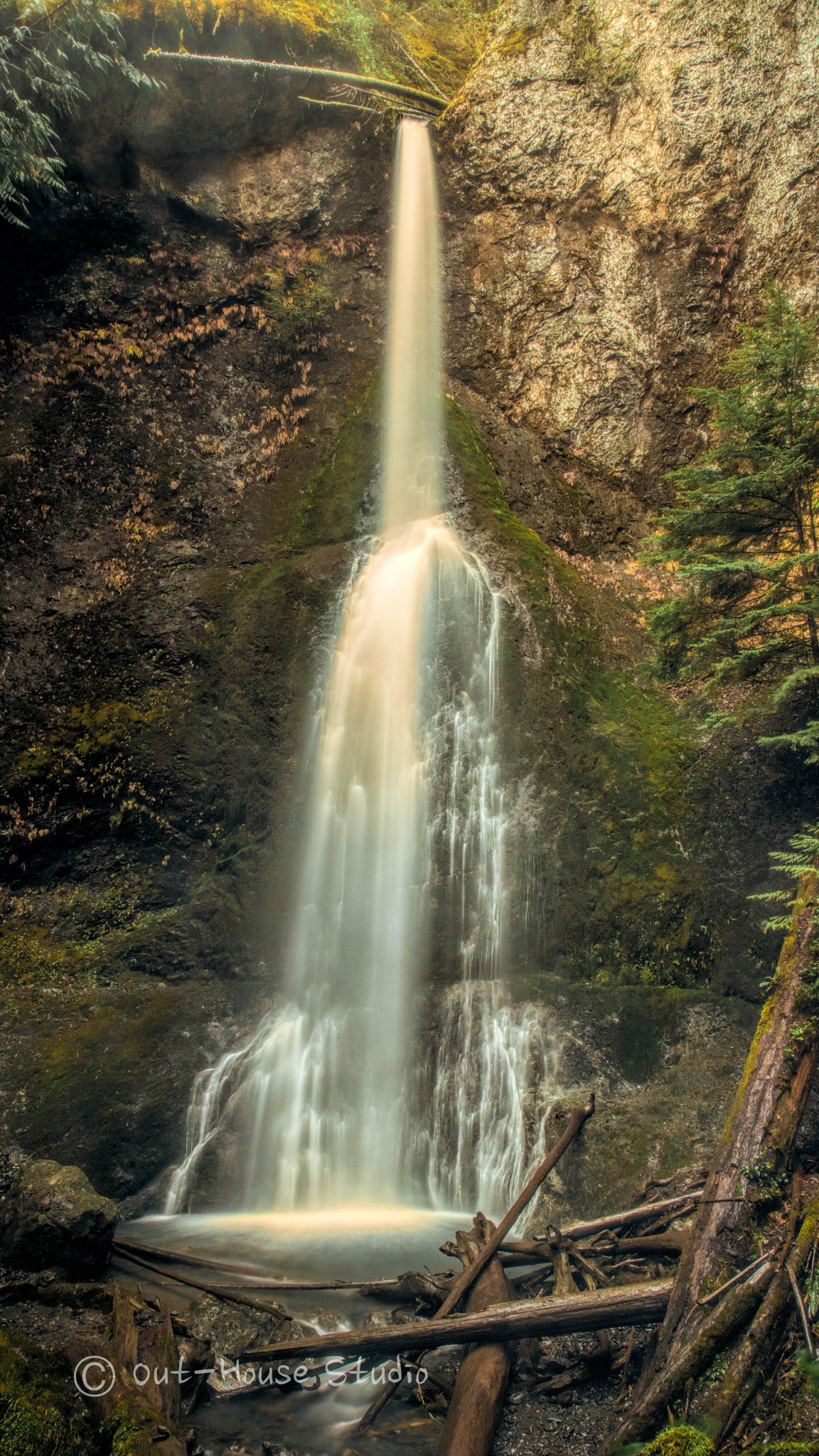 Marymere Falls  by OutHouseStudio