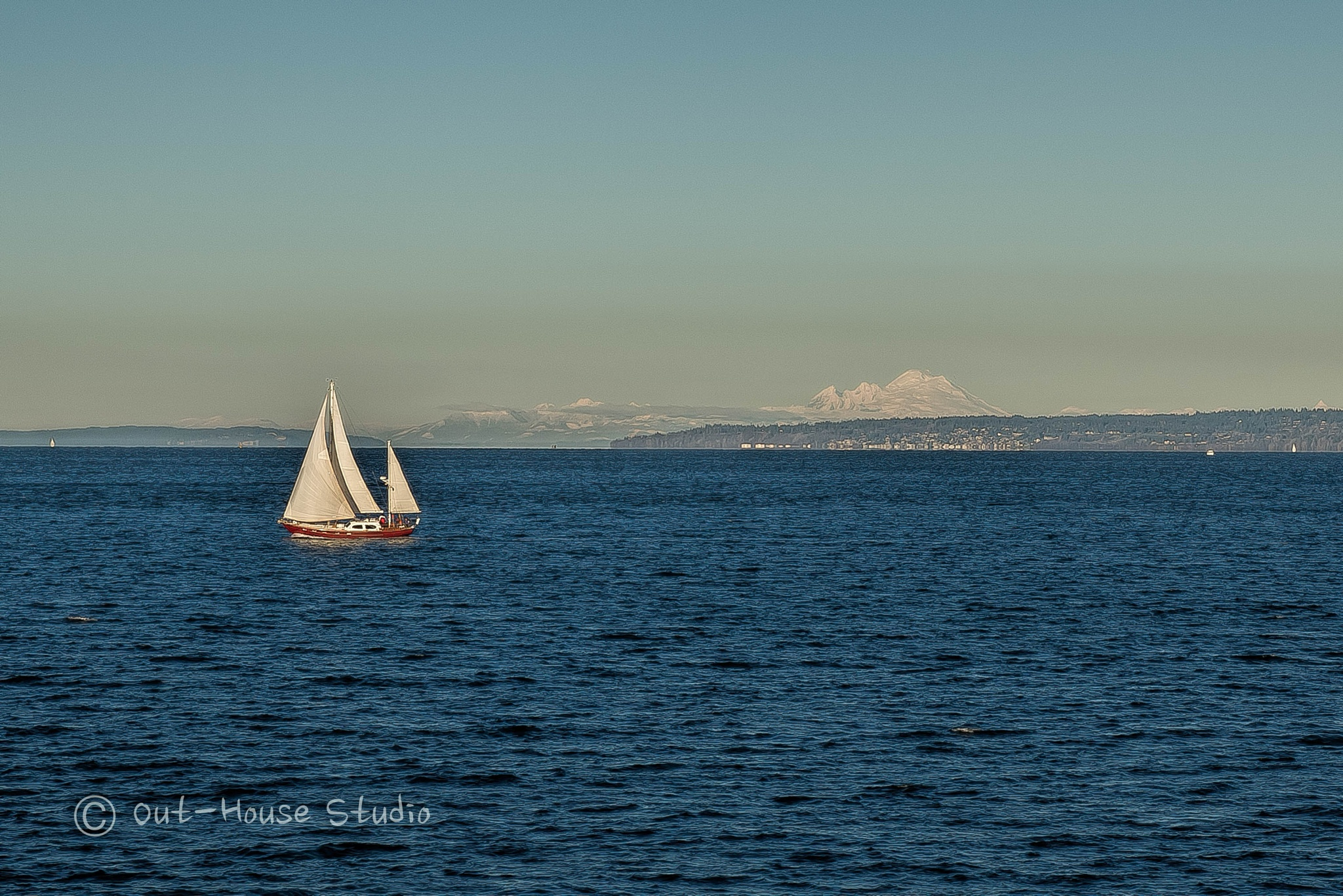 Sailing MT Baker  by OutHouseStudio