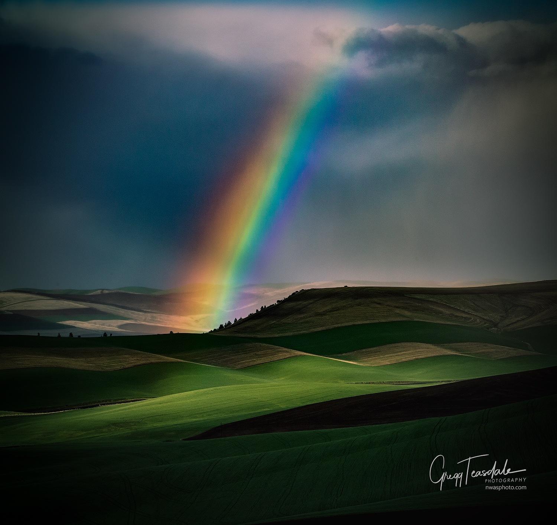 Palouse Rainbow by Gregg Teasdale