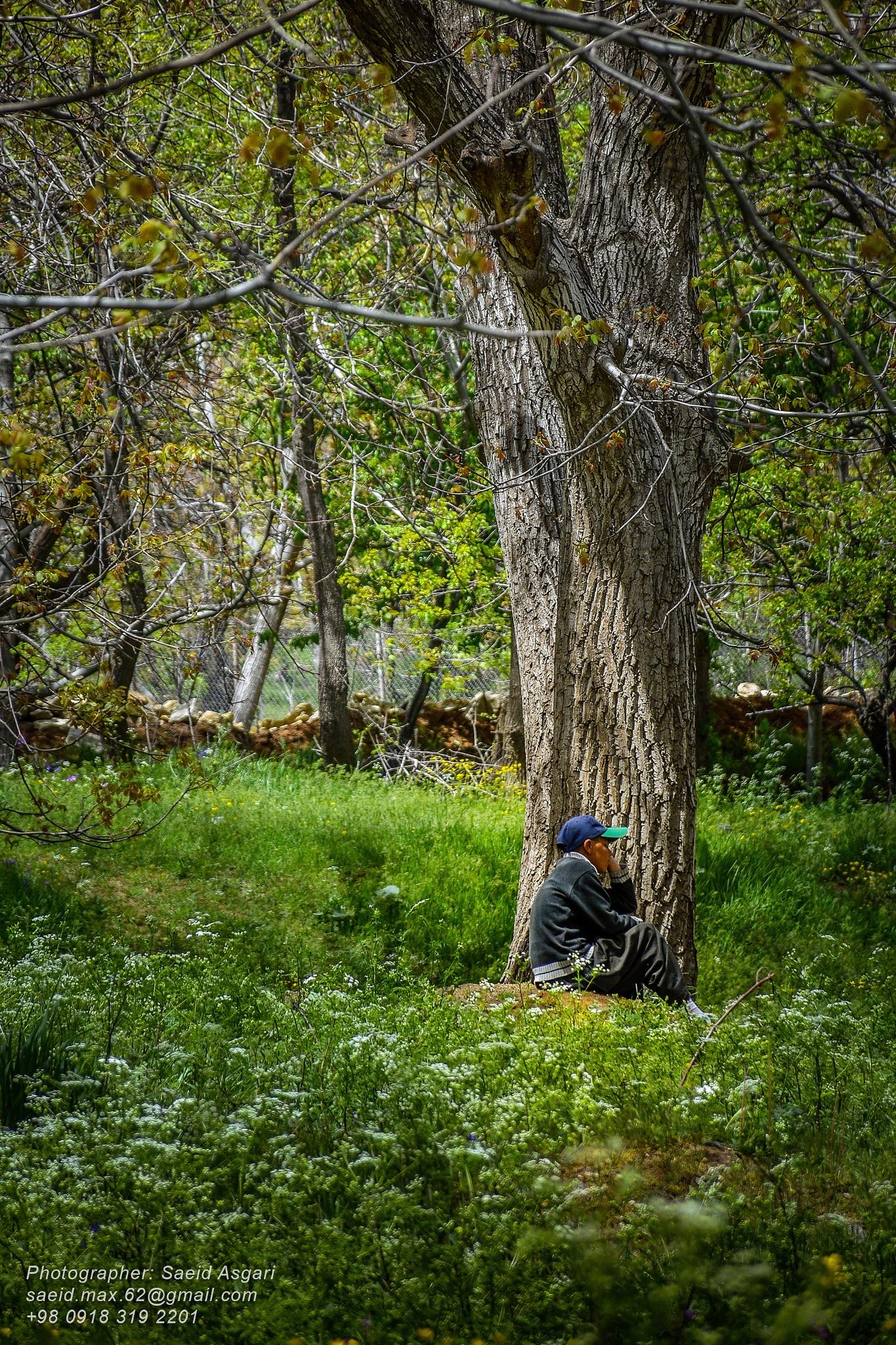Photo in People #iran #hamedan #village #spring #boy #alone #nikon #d7200
