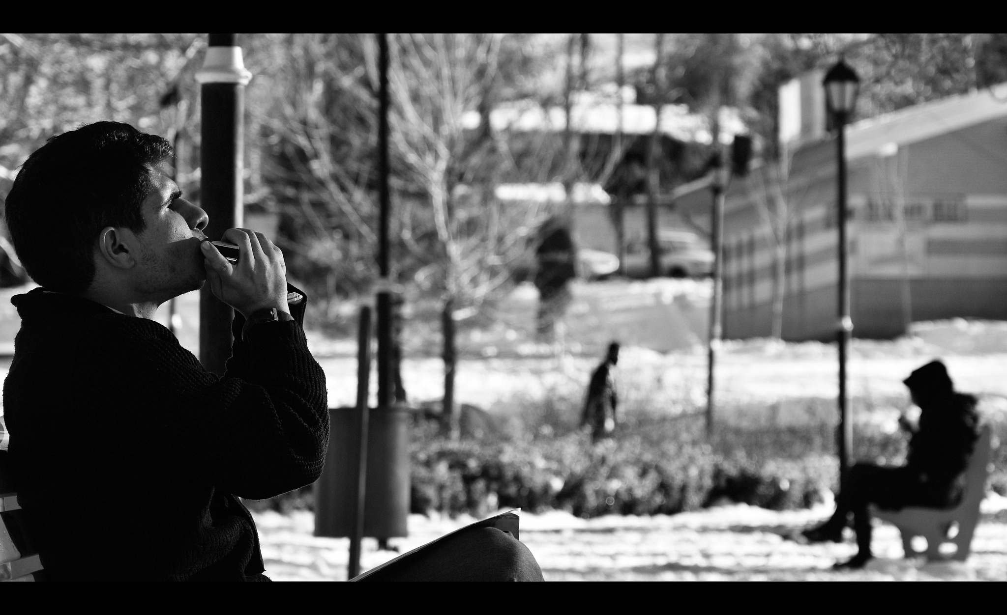 lonely boy with Harmonica... by Saeid_Asgari