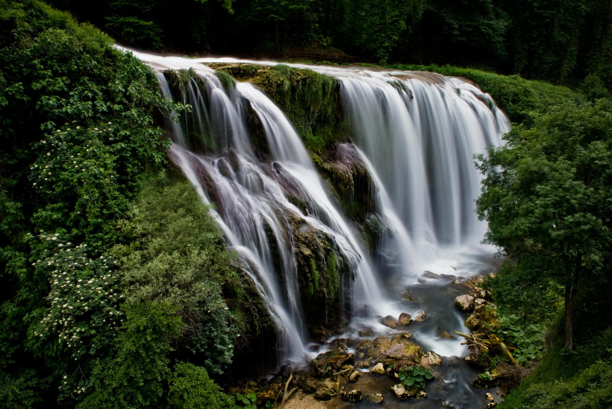 Marmore Falls - Umbria, Italy by Eric Kazmirek