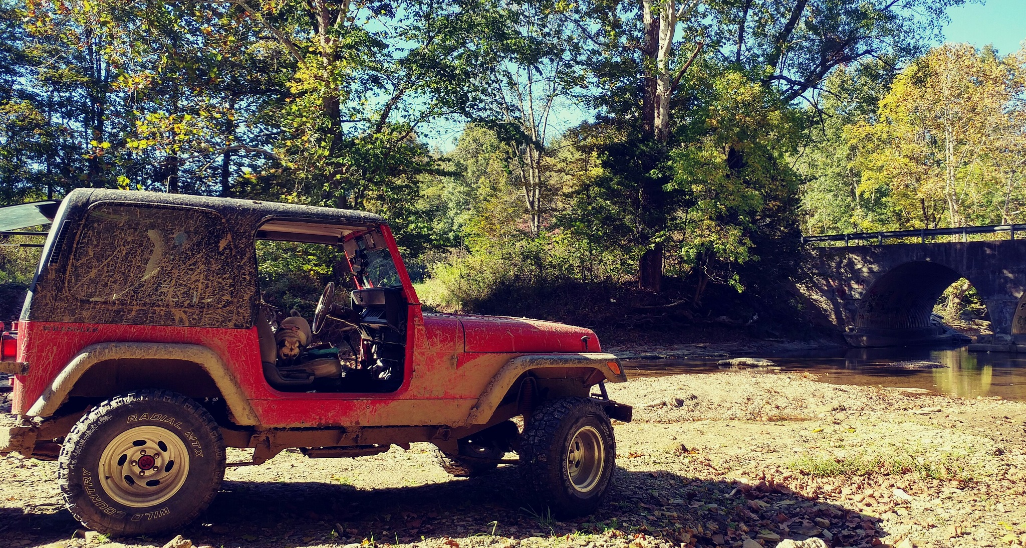 jeep, creek hopping w/ our beloved K9's by Amanda Davidson/ Crockett