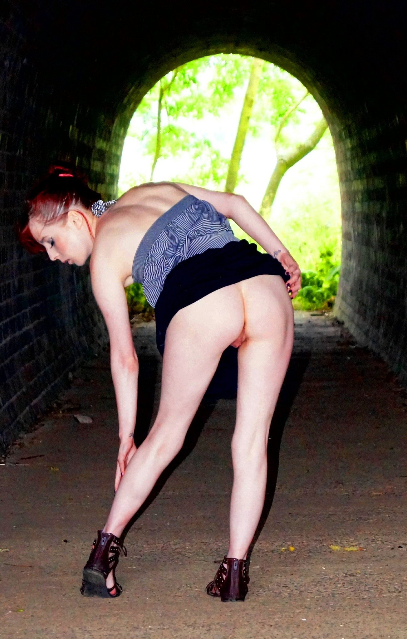Flashing in the arched tunnel, under the railway. by Hobbytog59