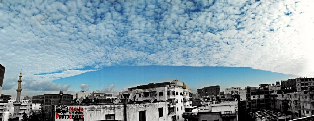 Panorama of clouds  by Nada Elmhlawy