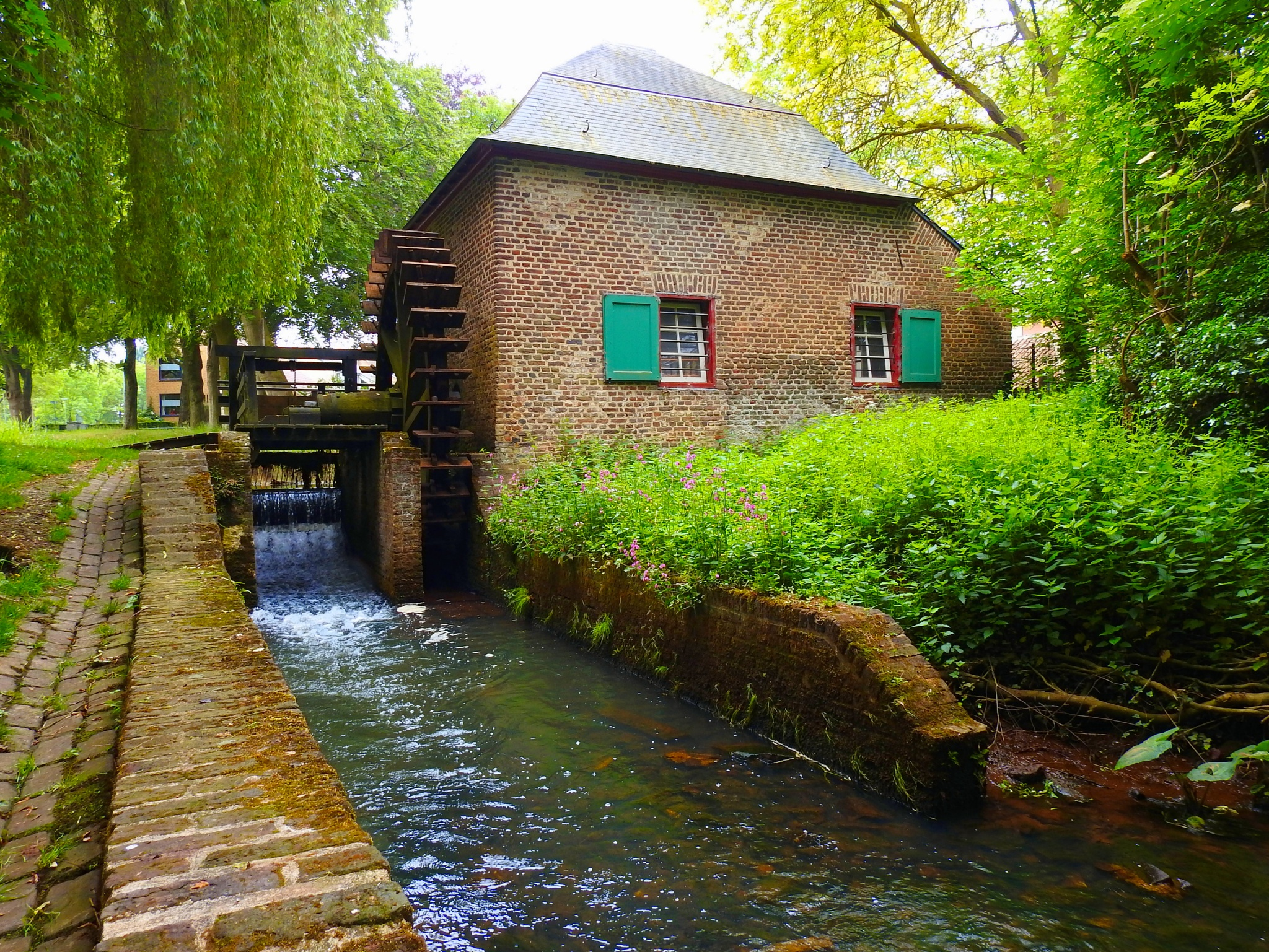 Water mill Baarlo Limburg Holland by Bob66