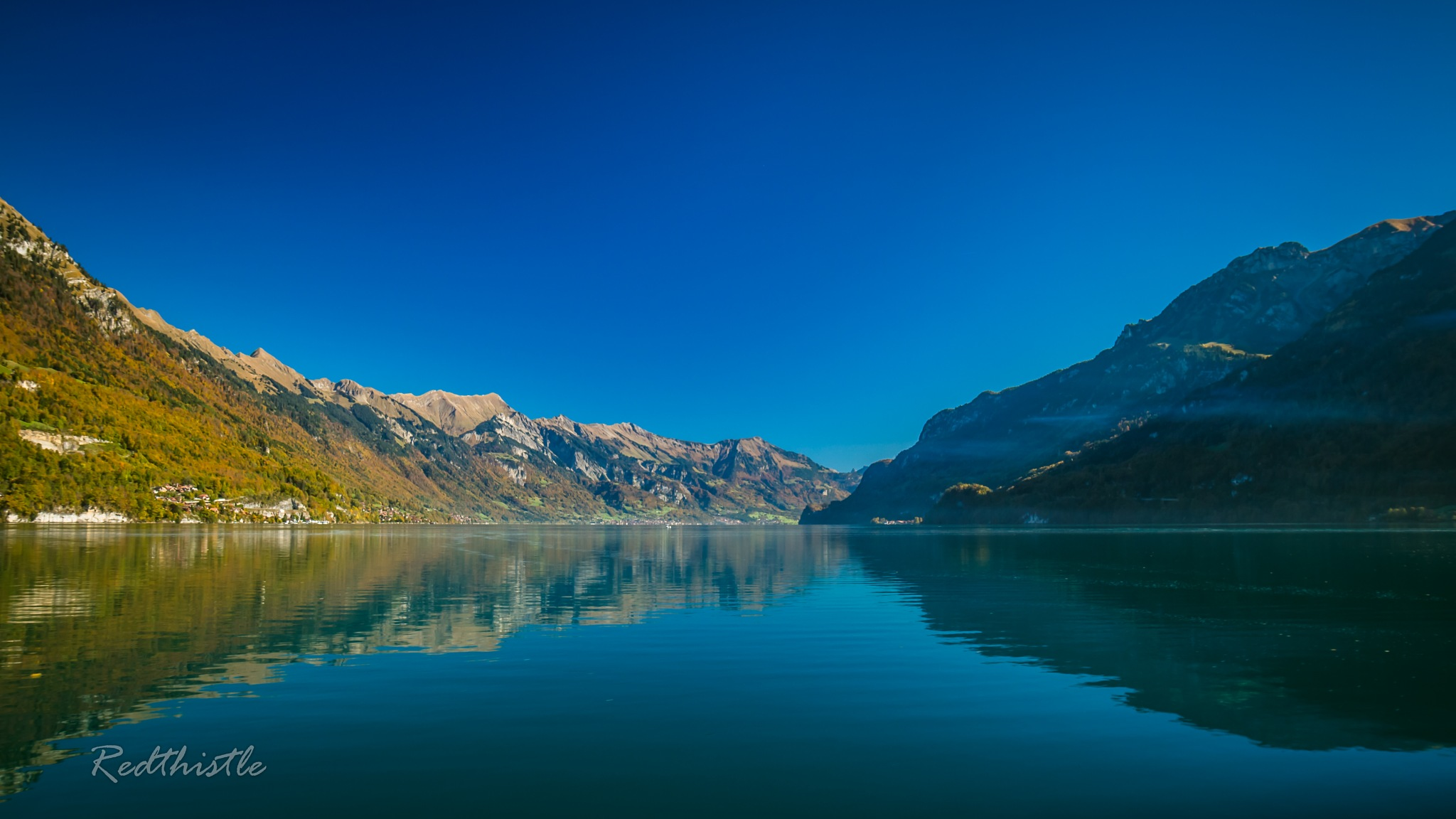 "Riding on a ferry over the ""Lake Brienz"" by Redthistle"
