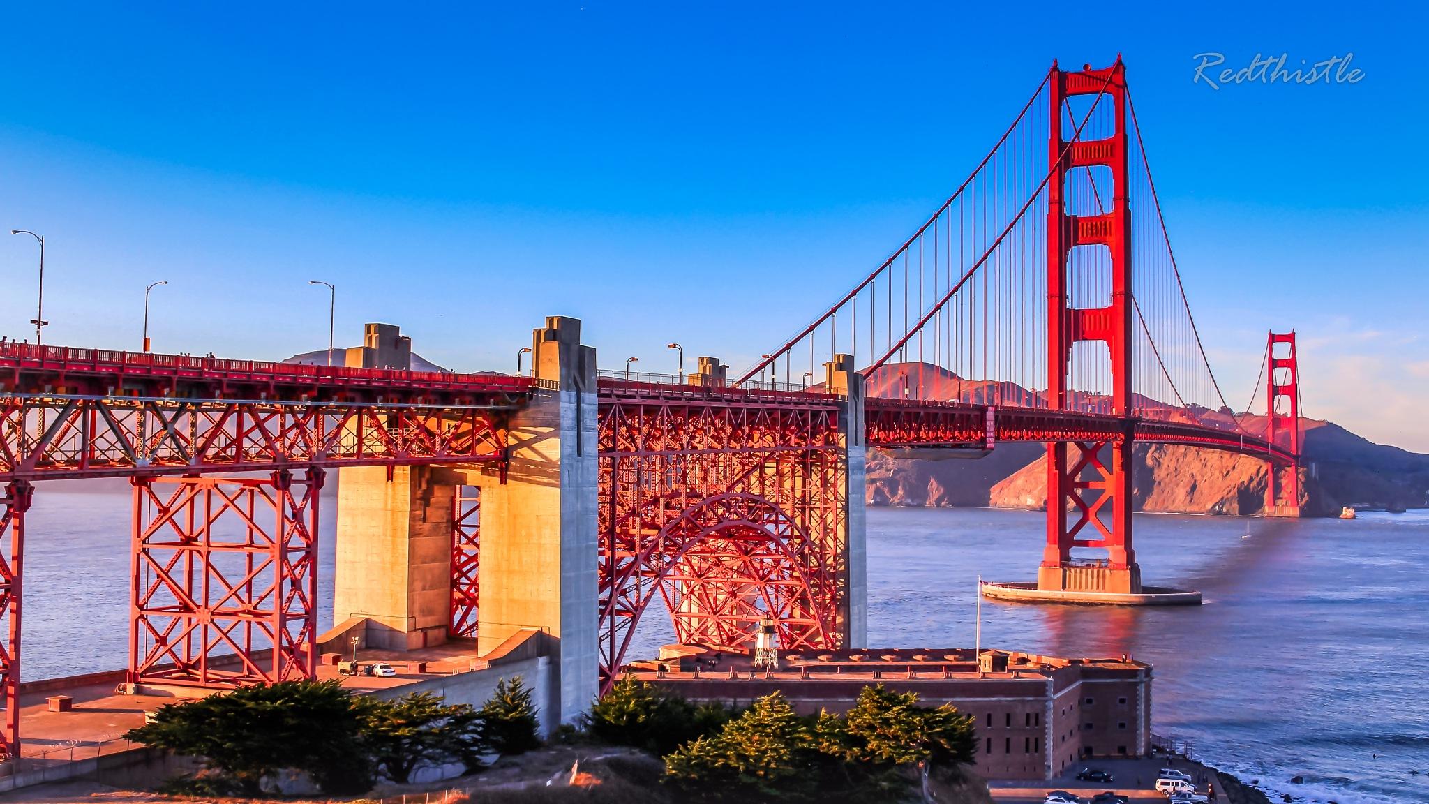 The Golden Gate Bridgen (part2)... by Redthistle