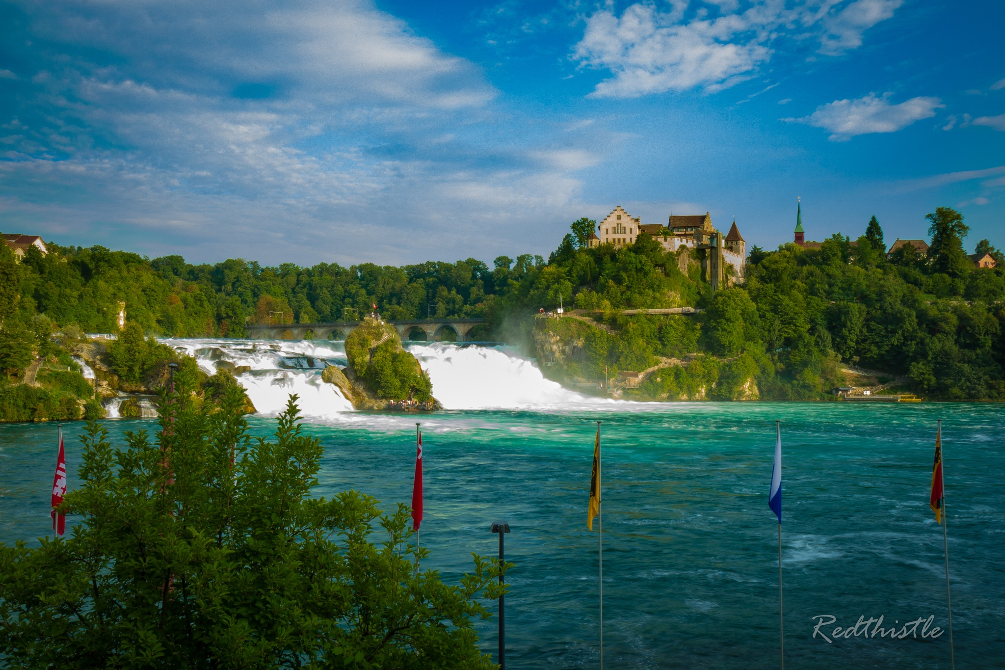 Early evening at the Rheinfall by Icethistle Photography