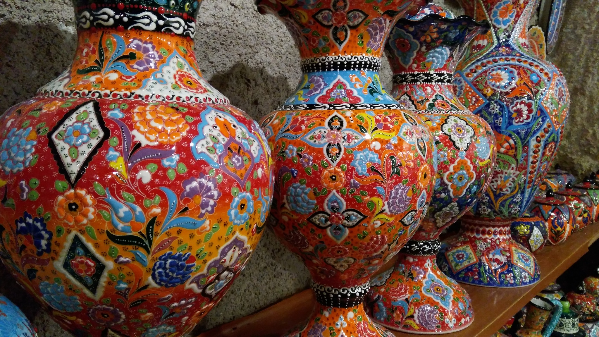 Ceramic vases in Cappadocia by allaboutturkey