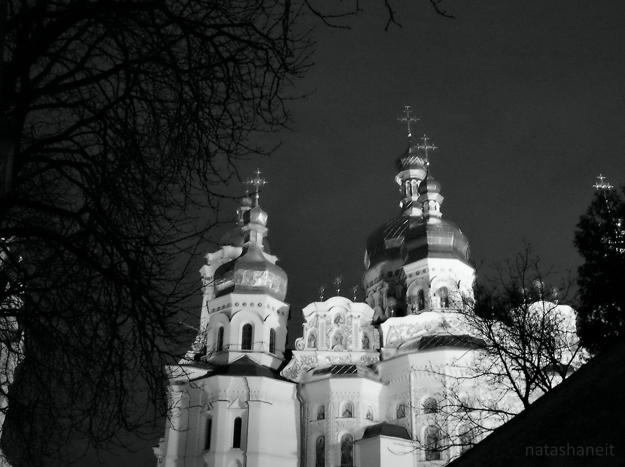 Assumption Cathedral at night by natashaneit