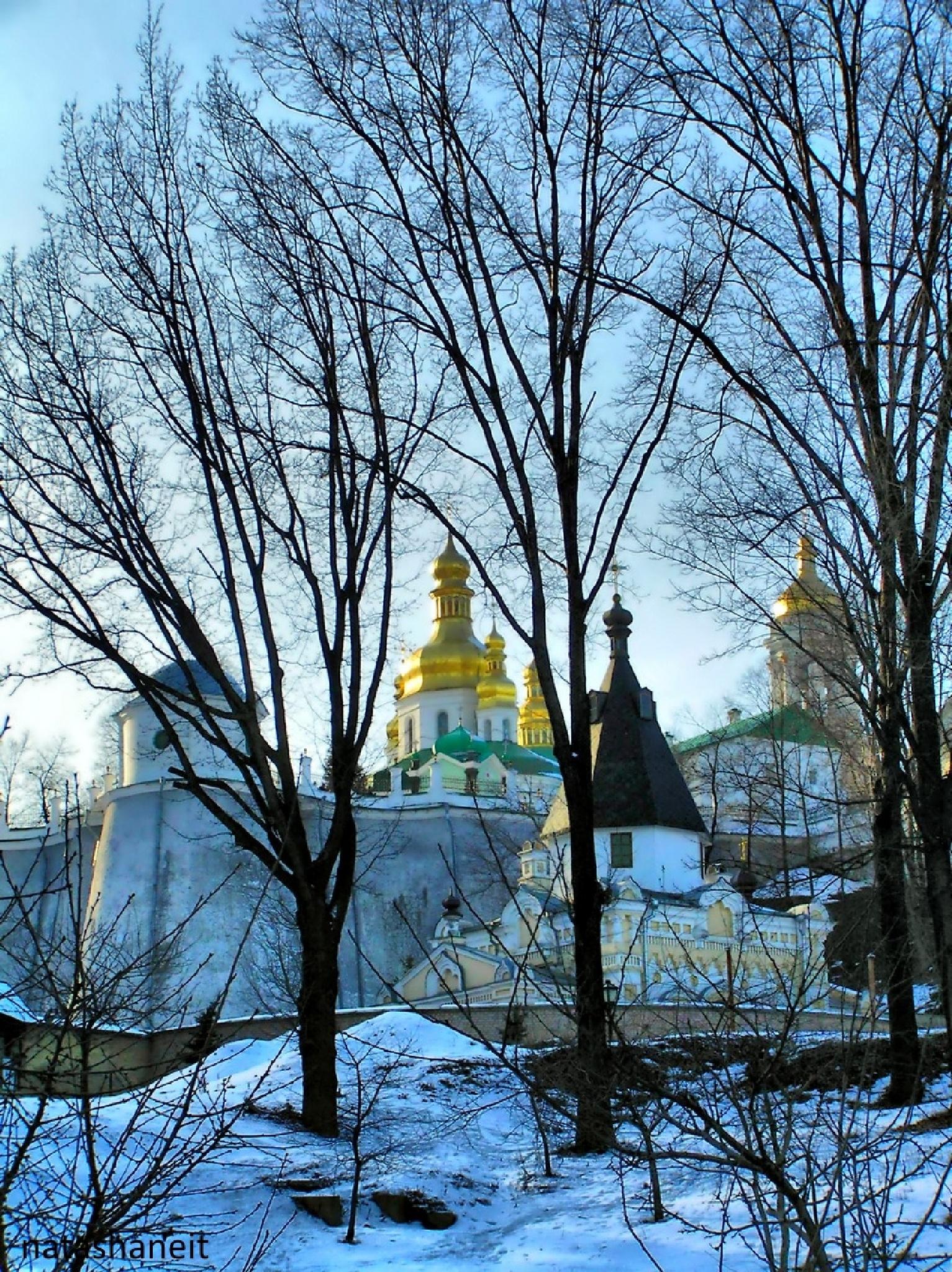 Monastery in the winter by natashaneit