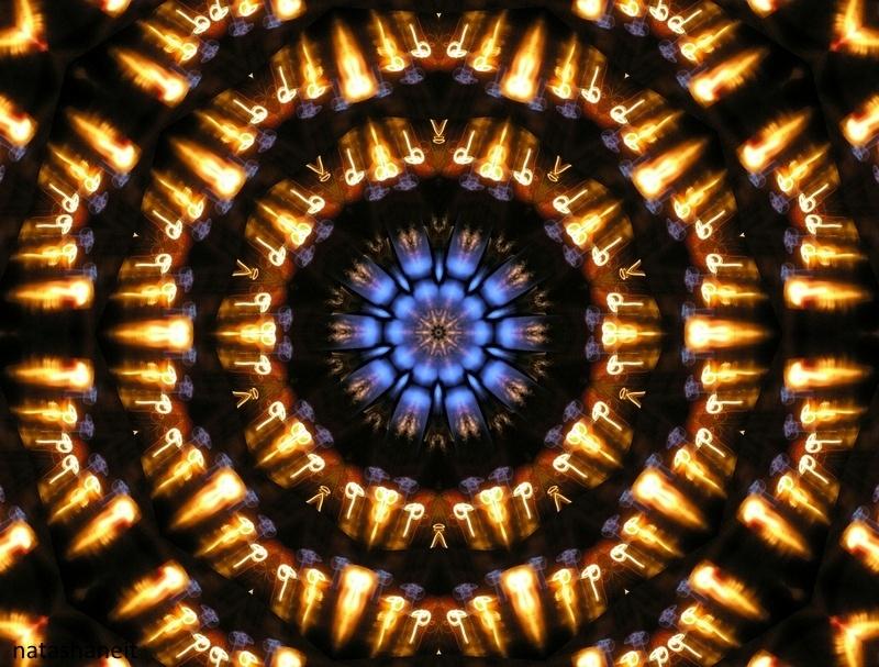 Golden mandala for meditation fire element by natashaneit