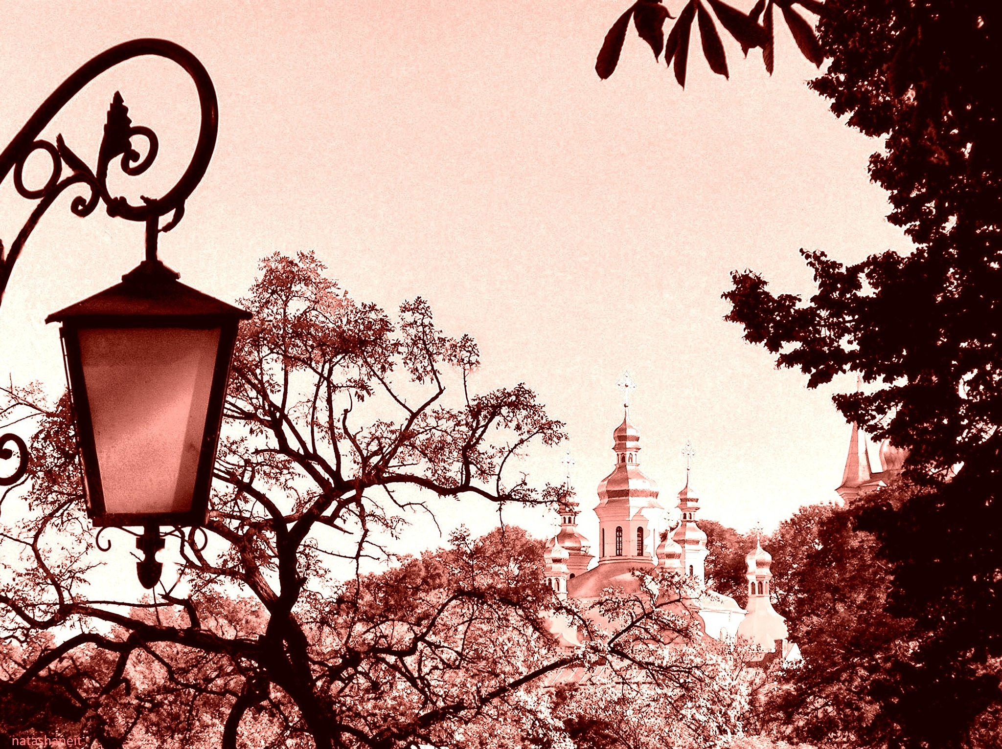 Monastery far beyond the trees by natashaneit