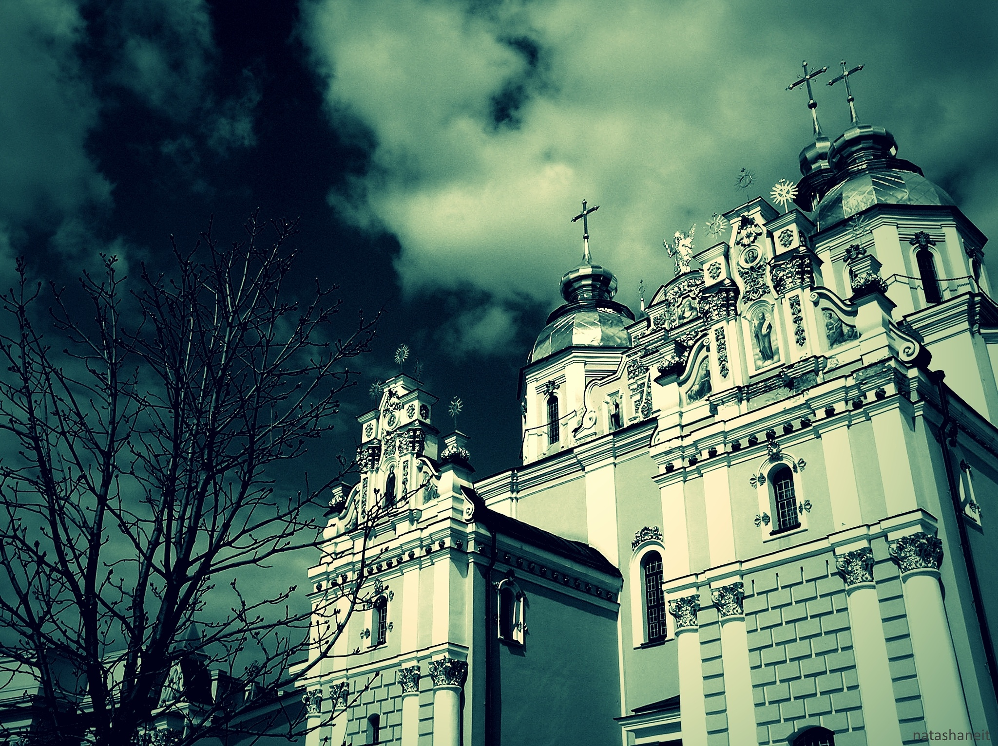 Photo in Architecture #trees #sky #clouds #domes #temple #cathedral