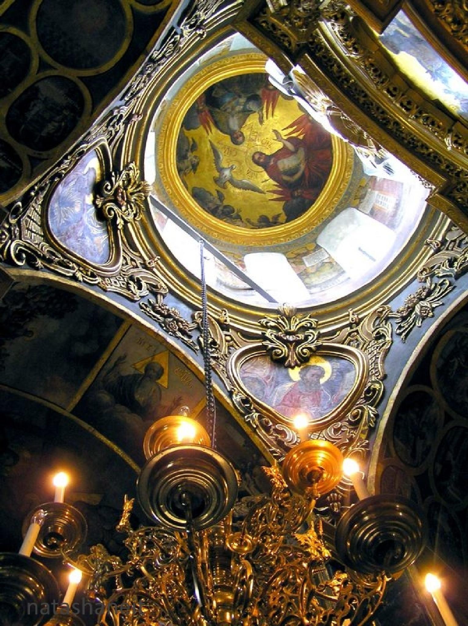 Holy Trinity - the dome of St. Nicholas Church Monastery by natashaneit