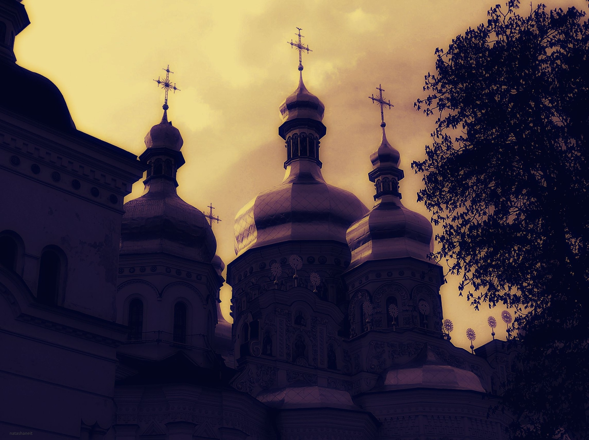 Cathedral of the Assumption at sunset by natashaneit