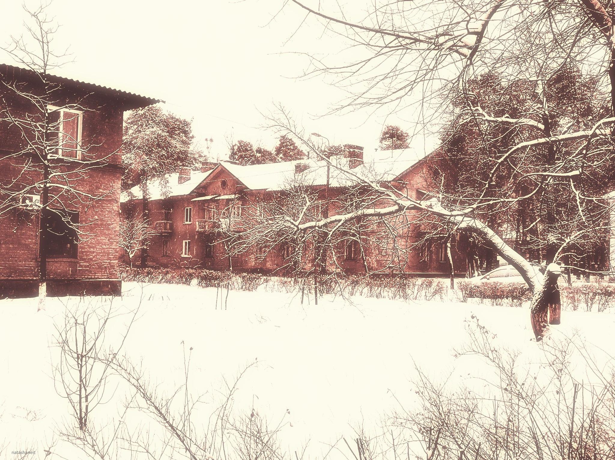 Winter street by natashaneit