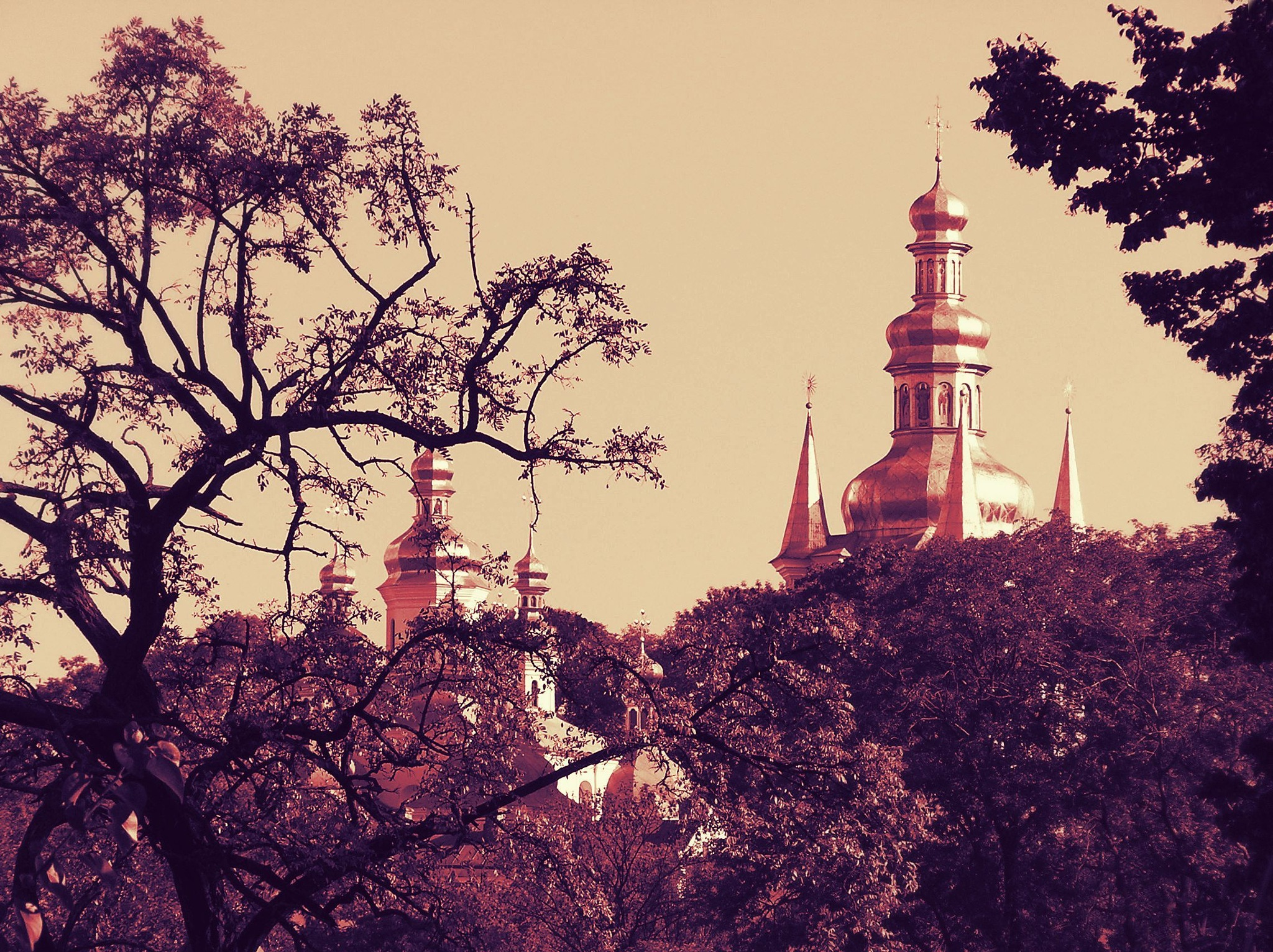 View of the Cathedral of the Pechersk Lavra by natashaneit