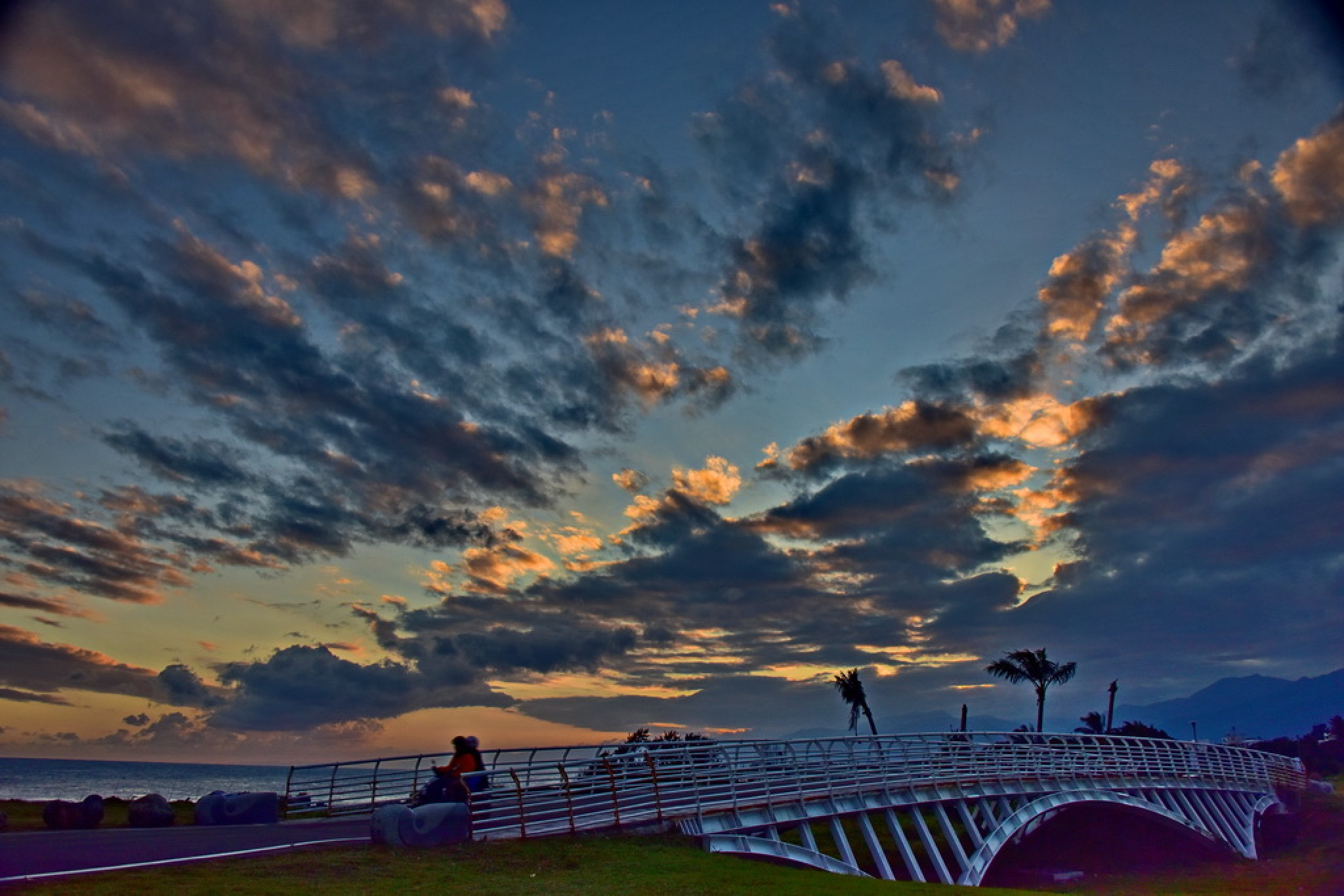 Sunset in beach park Taiwan Taitung. by petertyghbn