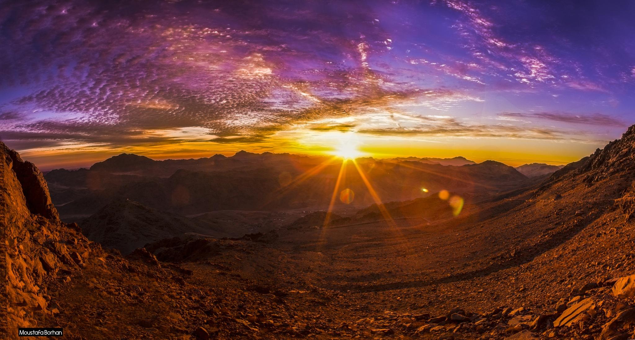 a beautiful sunrise by Moustafa Borhan