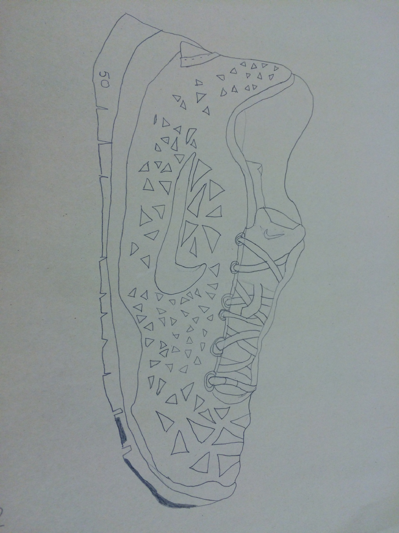 Shoe drawing  by horses1