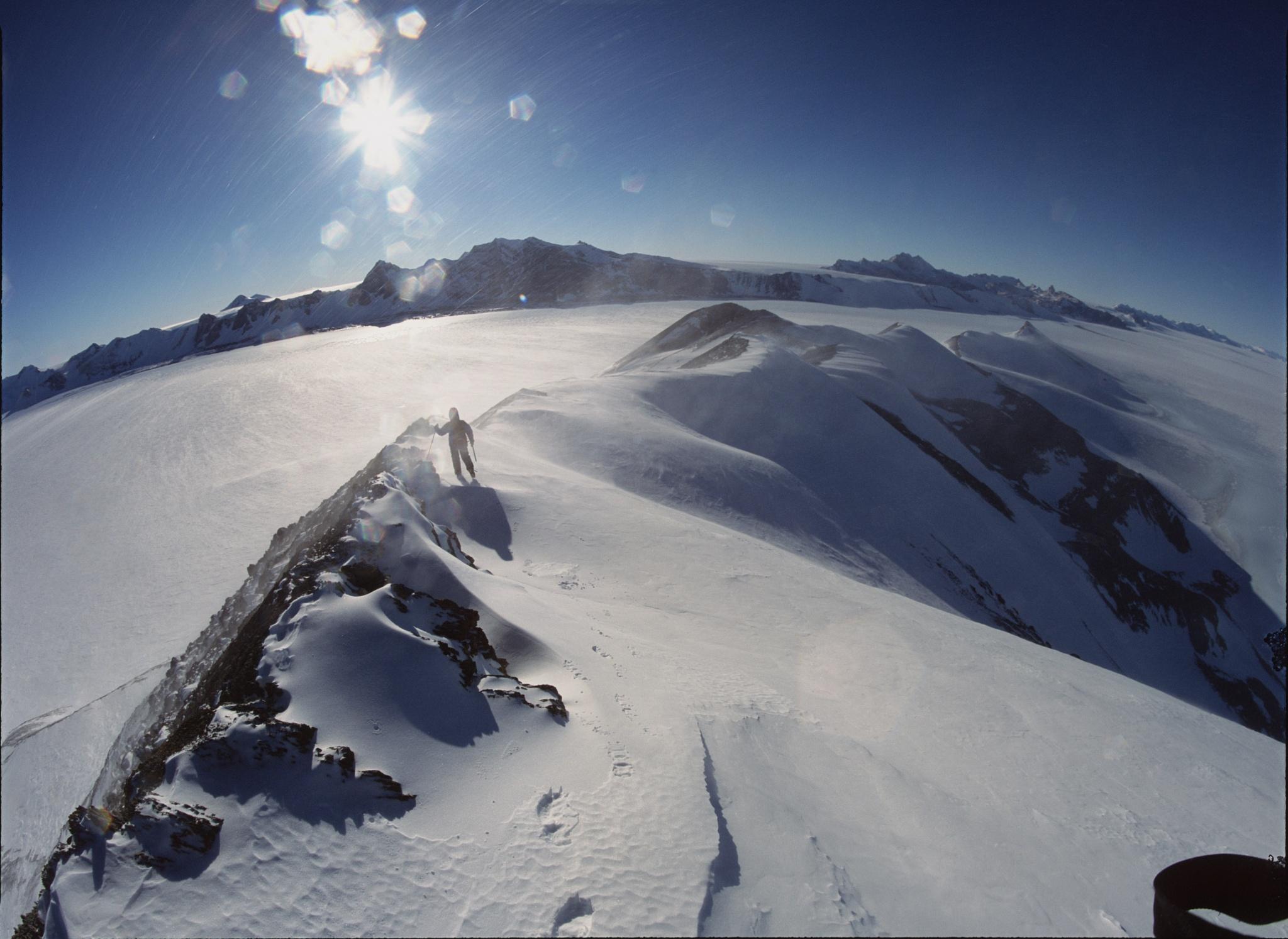 Midnight Summit, Antarctica by Martin Hartley
