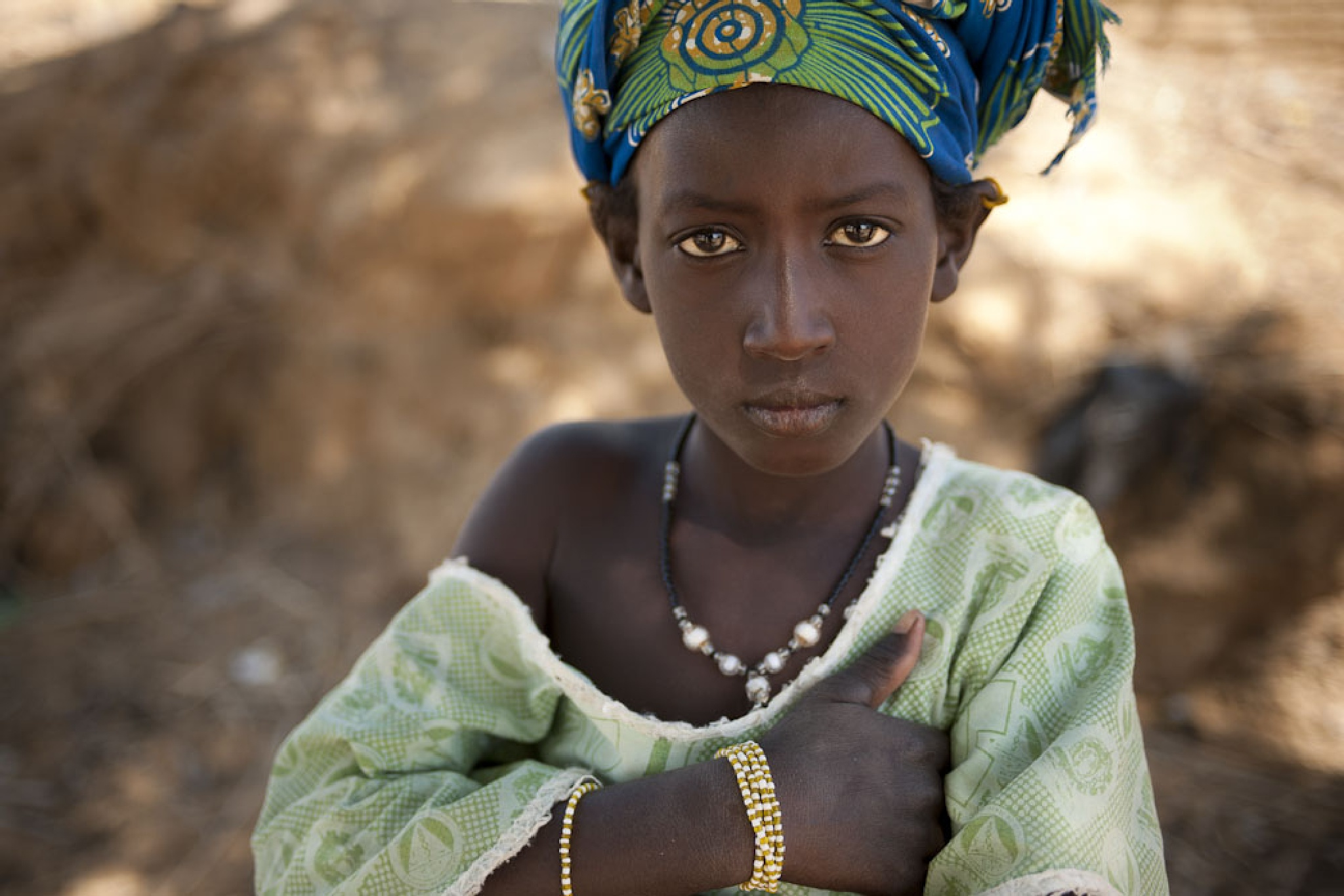 Girl in green, Mali by Martin Hartley