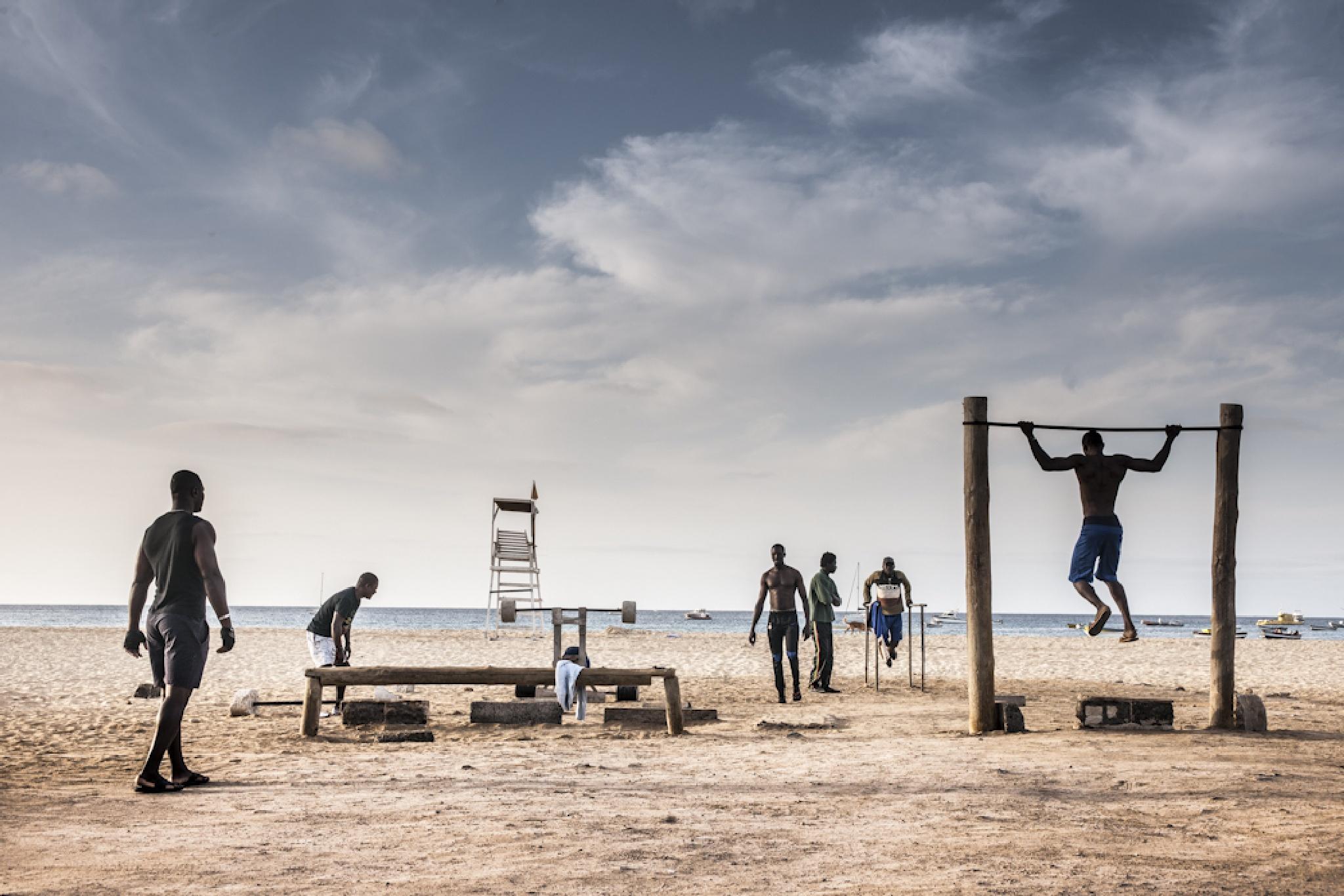 Outdoor gym, Cape Verde Island by Martin Hartley