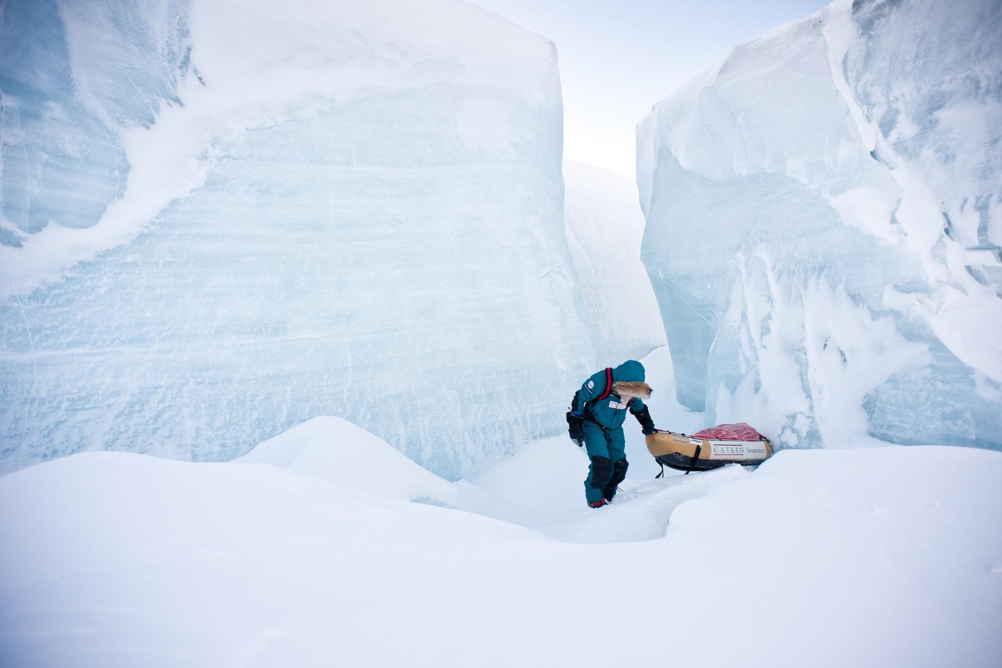 Inside an iceberg by Martin Hartley