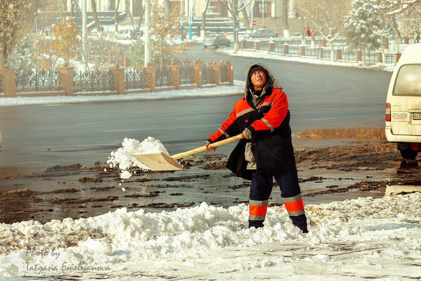 Зима пришла в Ташкент. by emelyanova2010