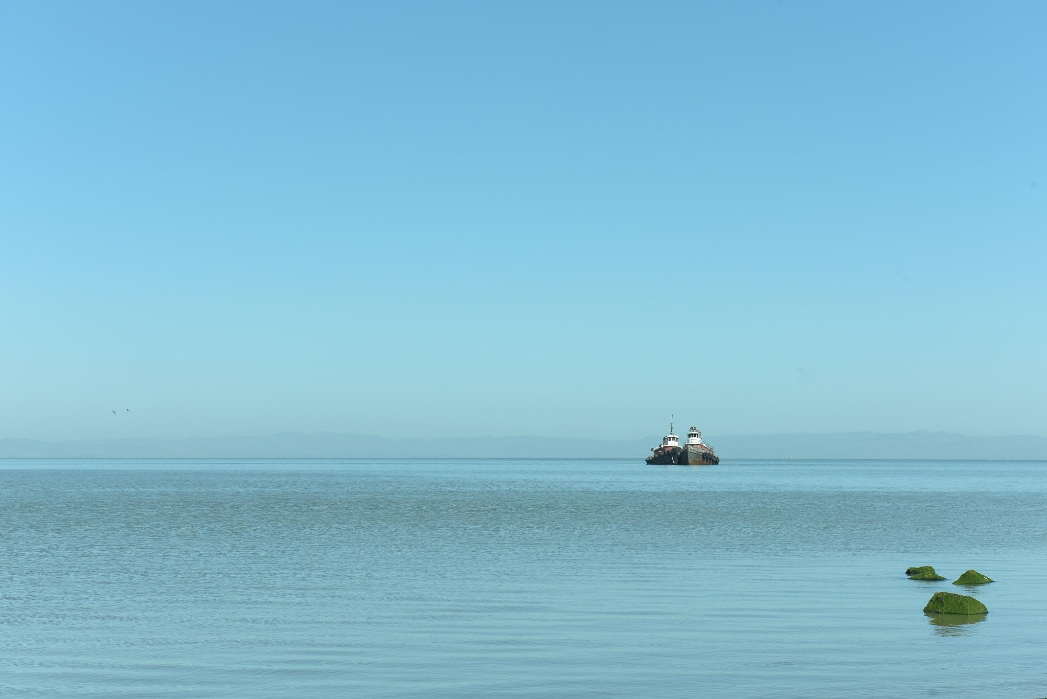 Two boats by Liliane Sticher