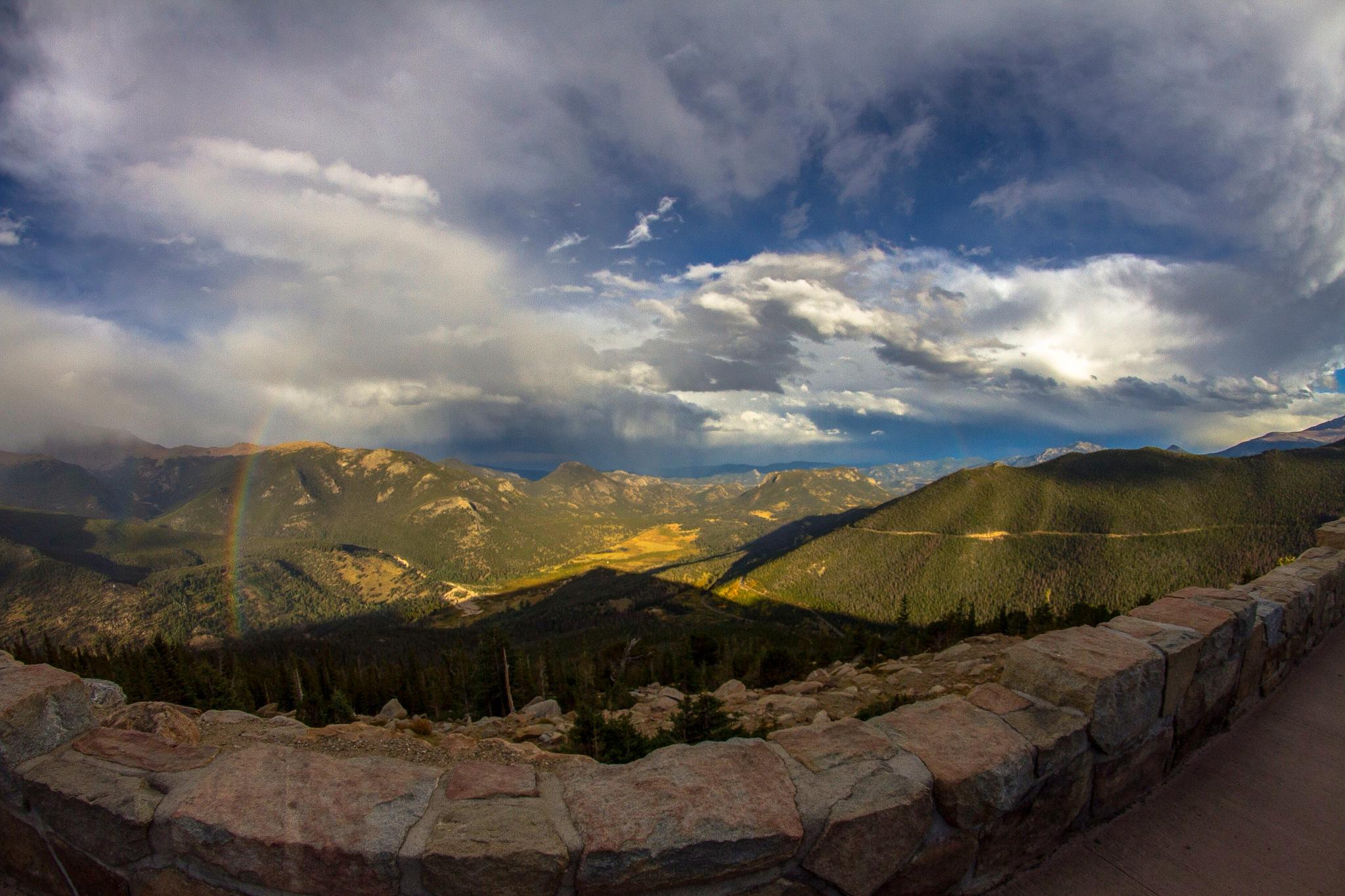 Rainbow - Rocky Mountain National Park  by Prunaphotography